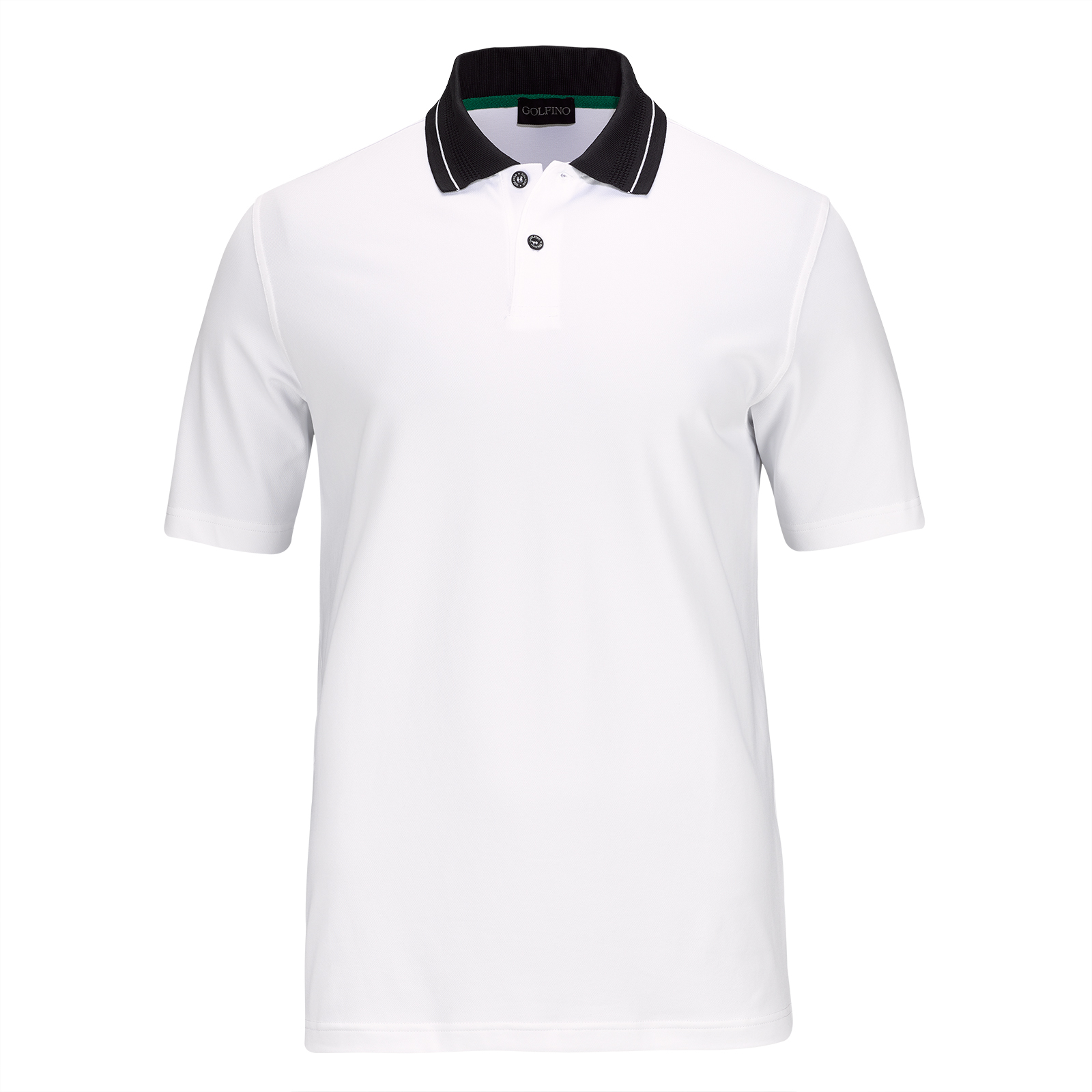 Men's cotton blend golf piqué with sun protection and moisture management