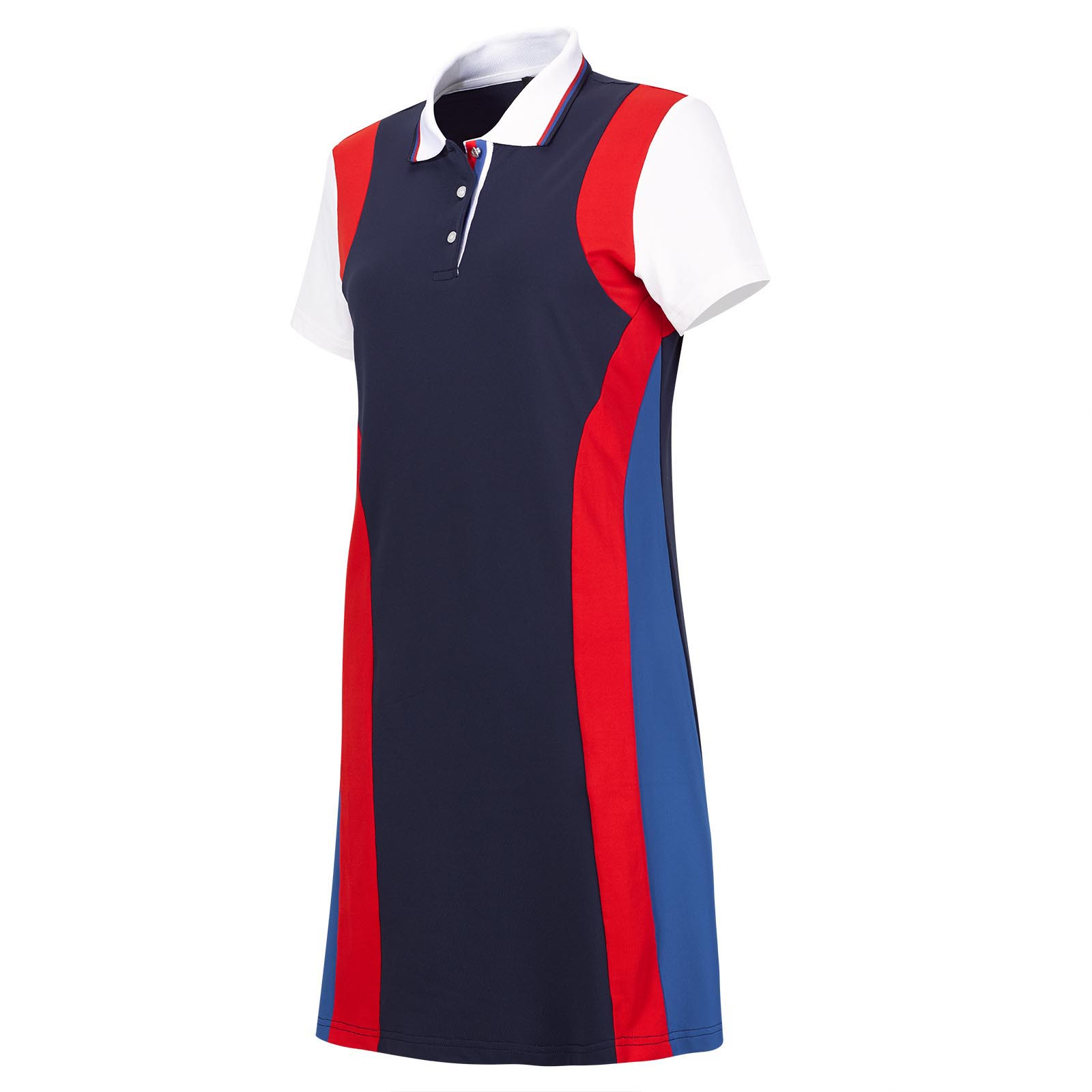 Short-sleeve ladies' functional golf apparel in retro look with Sun Protection