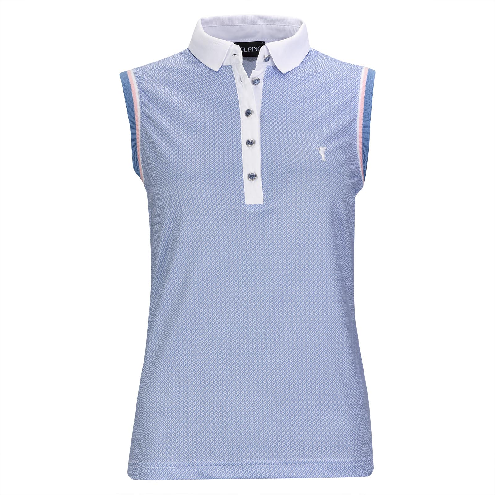 Ärmelloses Damen Funktions-Golfpolo mit Moisture Management in Slim Fit