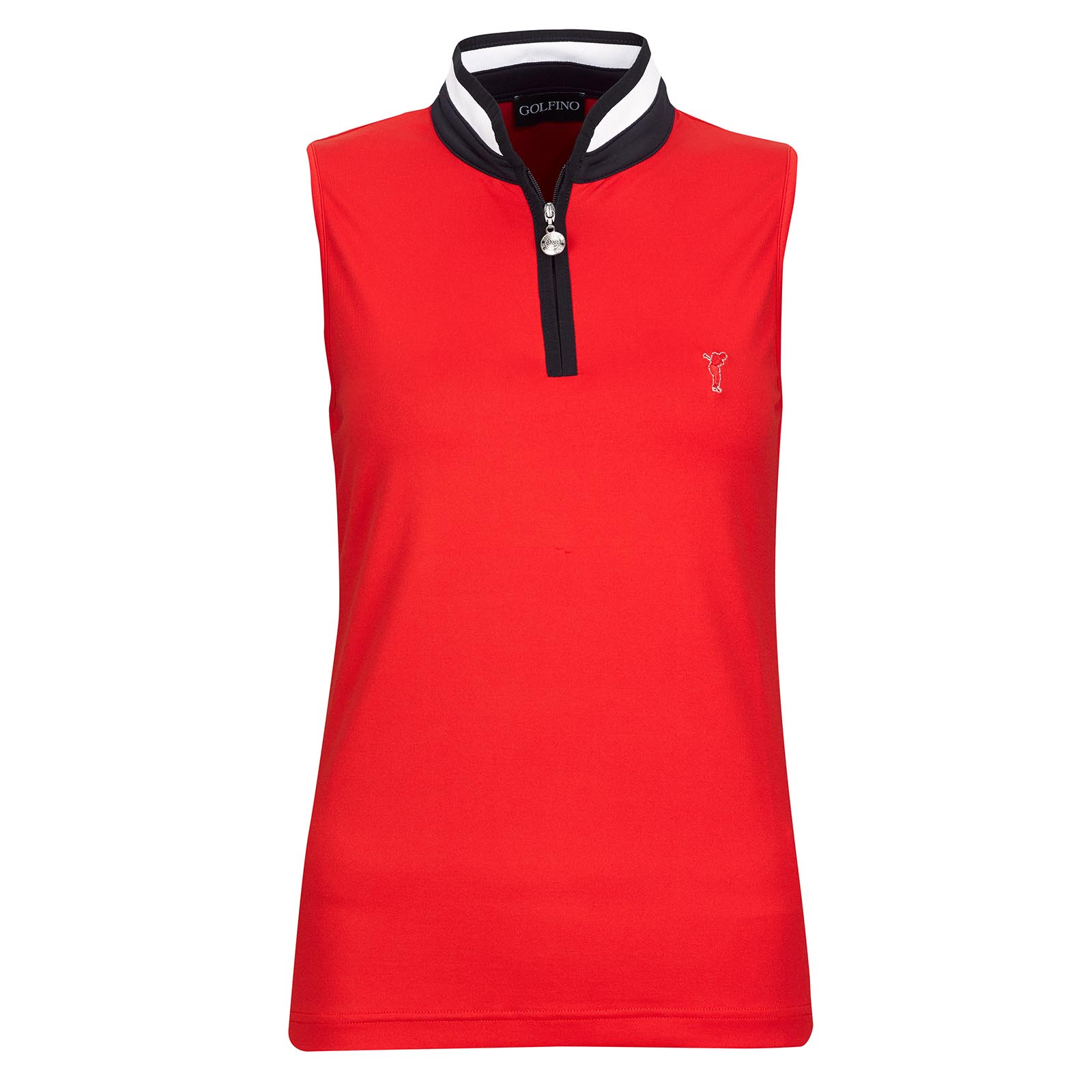 Ladies' sleeveless functional golf troyer with Moisture Management