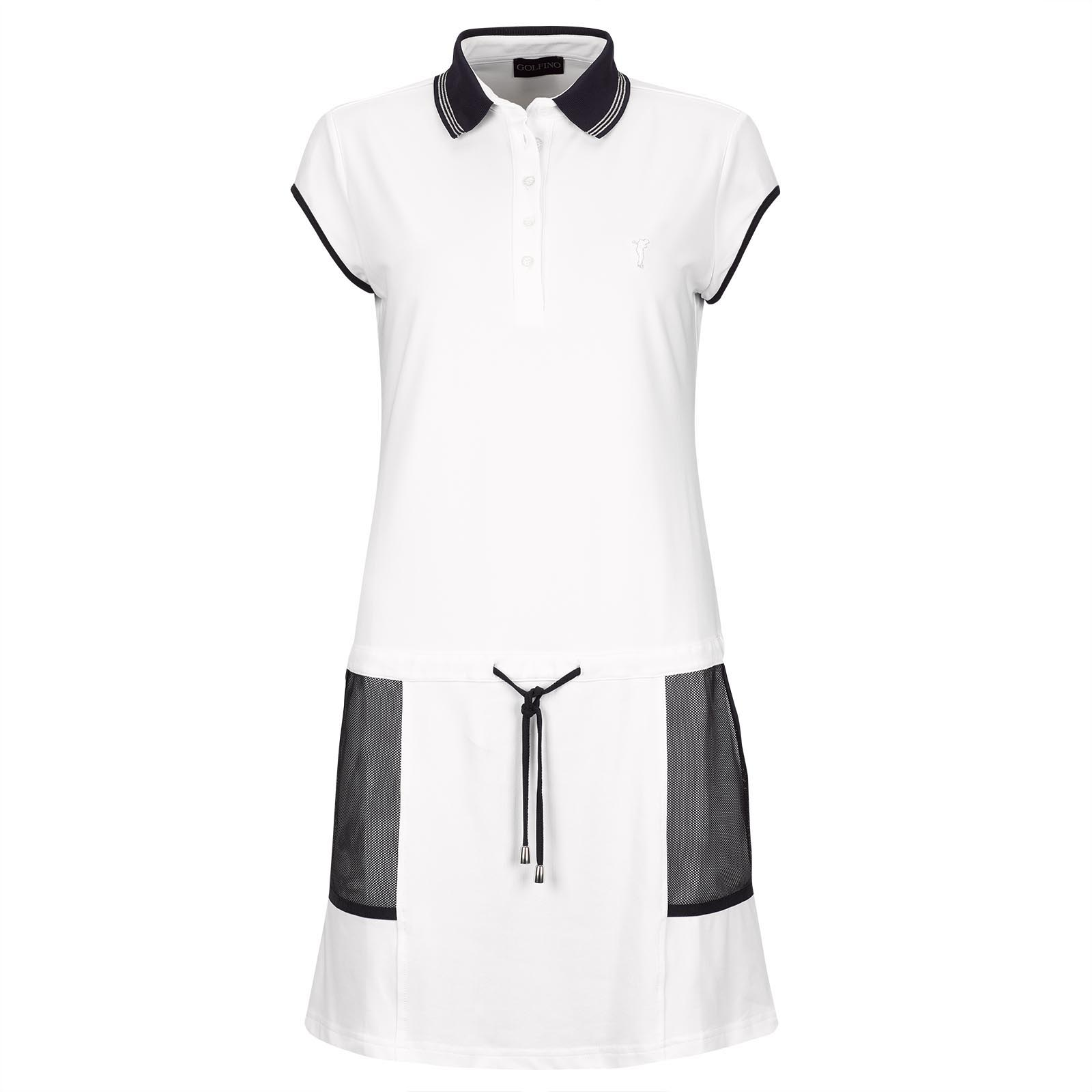 Trendiges Damen Piqué Golfkleid mit Sunprotection und Mesh-Applikationen