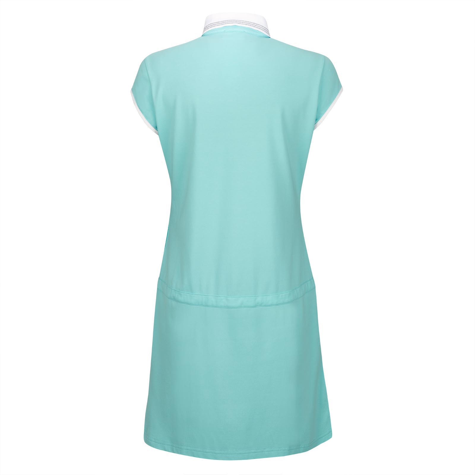 Trendiges Damen Piqué-Golfkleid mit Sunprotection und Mesh-Applikationen