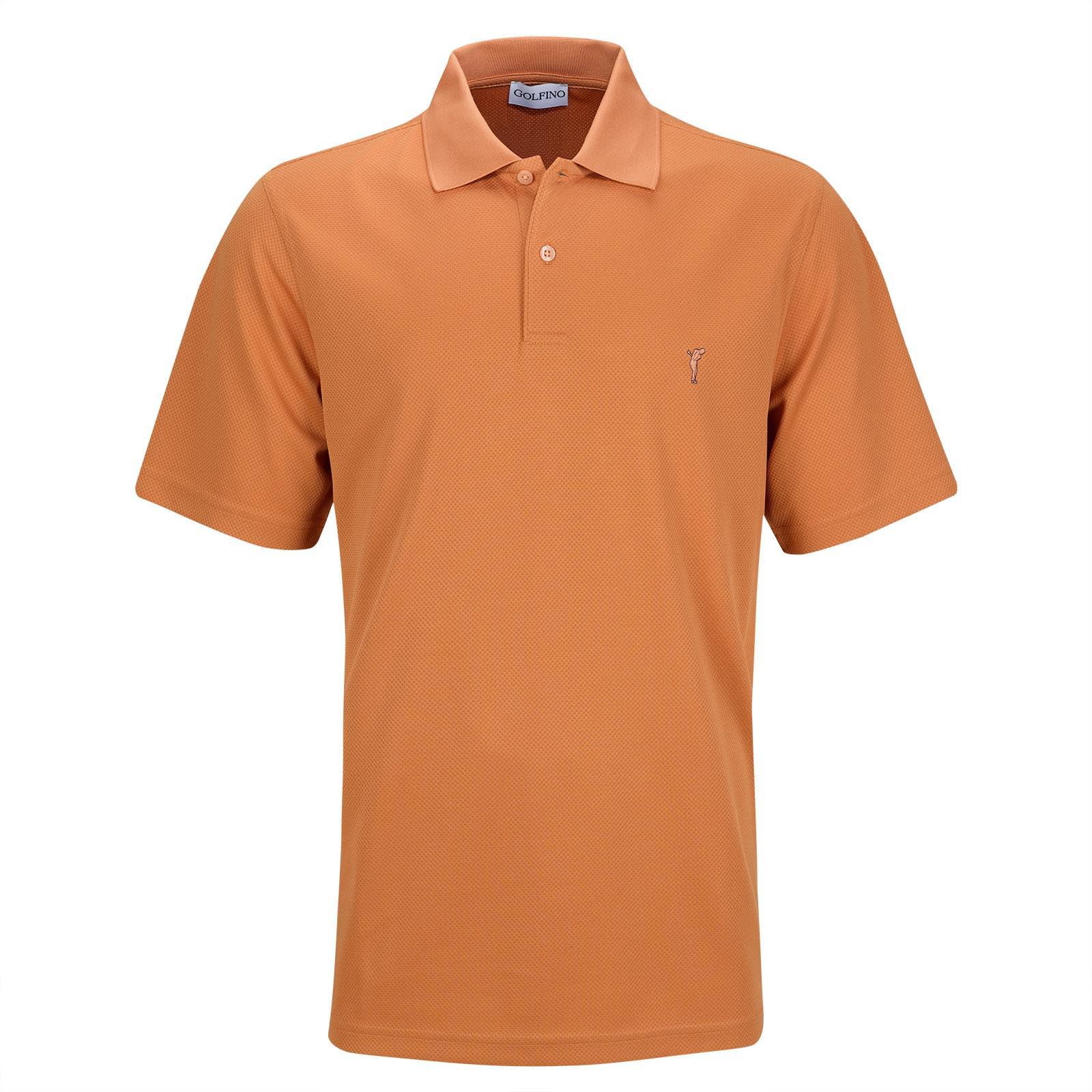 Men's performance wear Kafetex® short sleeve golf polo with moisture management
