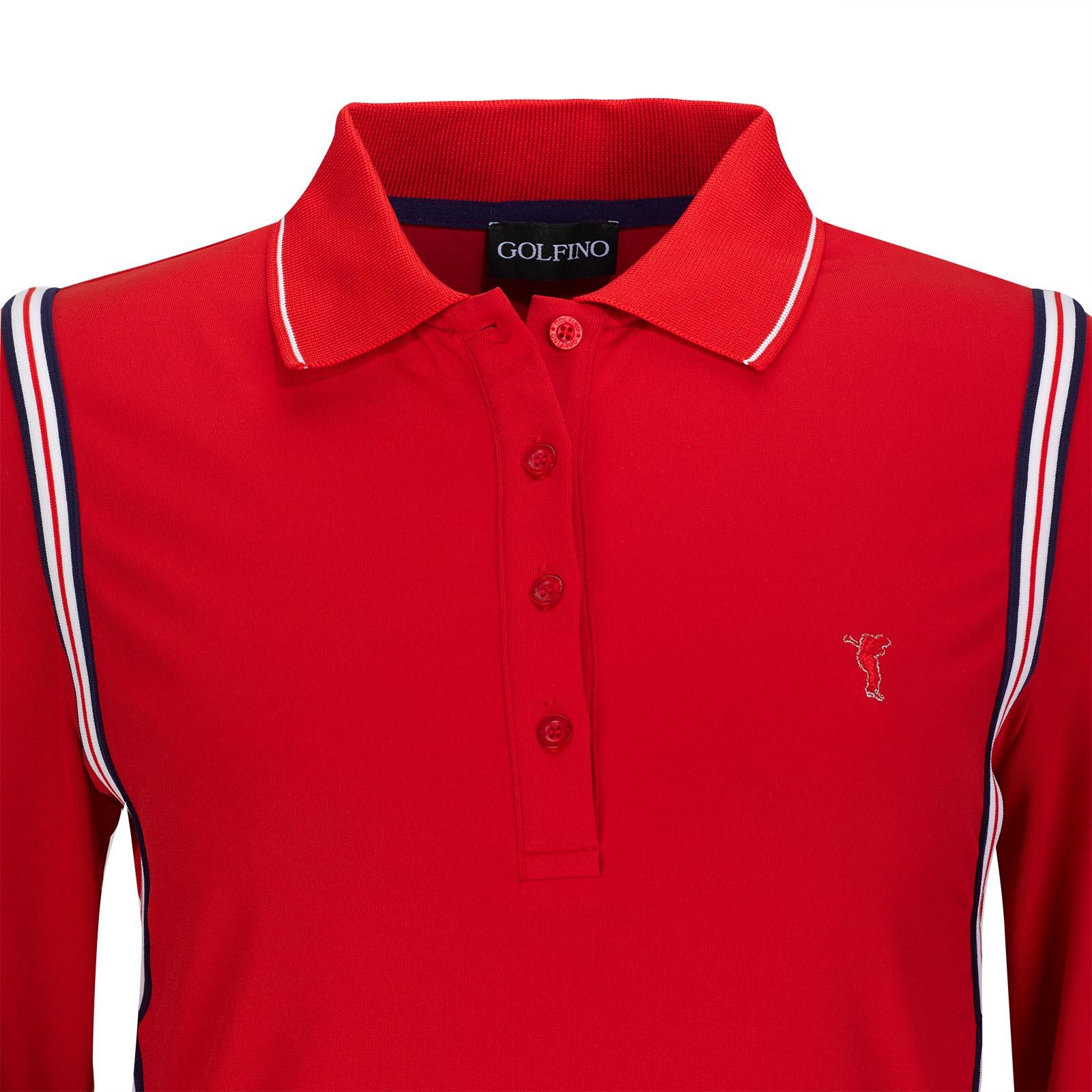 Damen Basic Langarm Funktions-Golfpolo mit Moisture Management