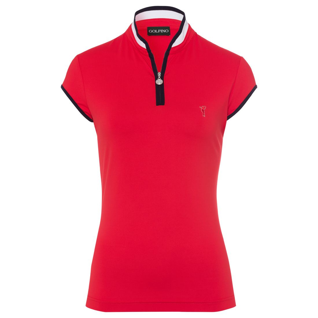 Ladies' short-sleeved half-zip