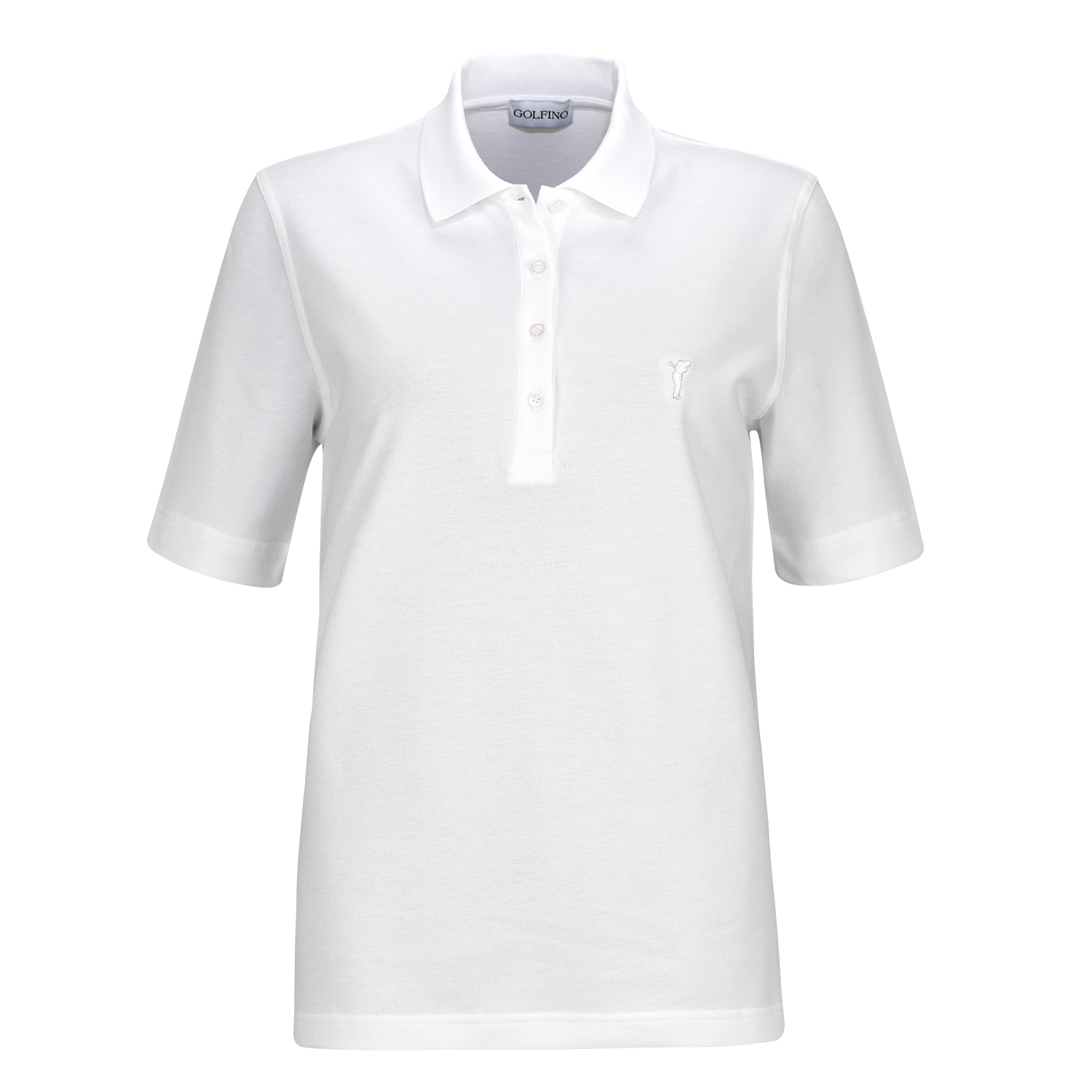 Basic Cotton Blend Ladies' Short Sleeve Golf polo shirt with stretch function