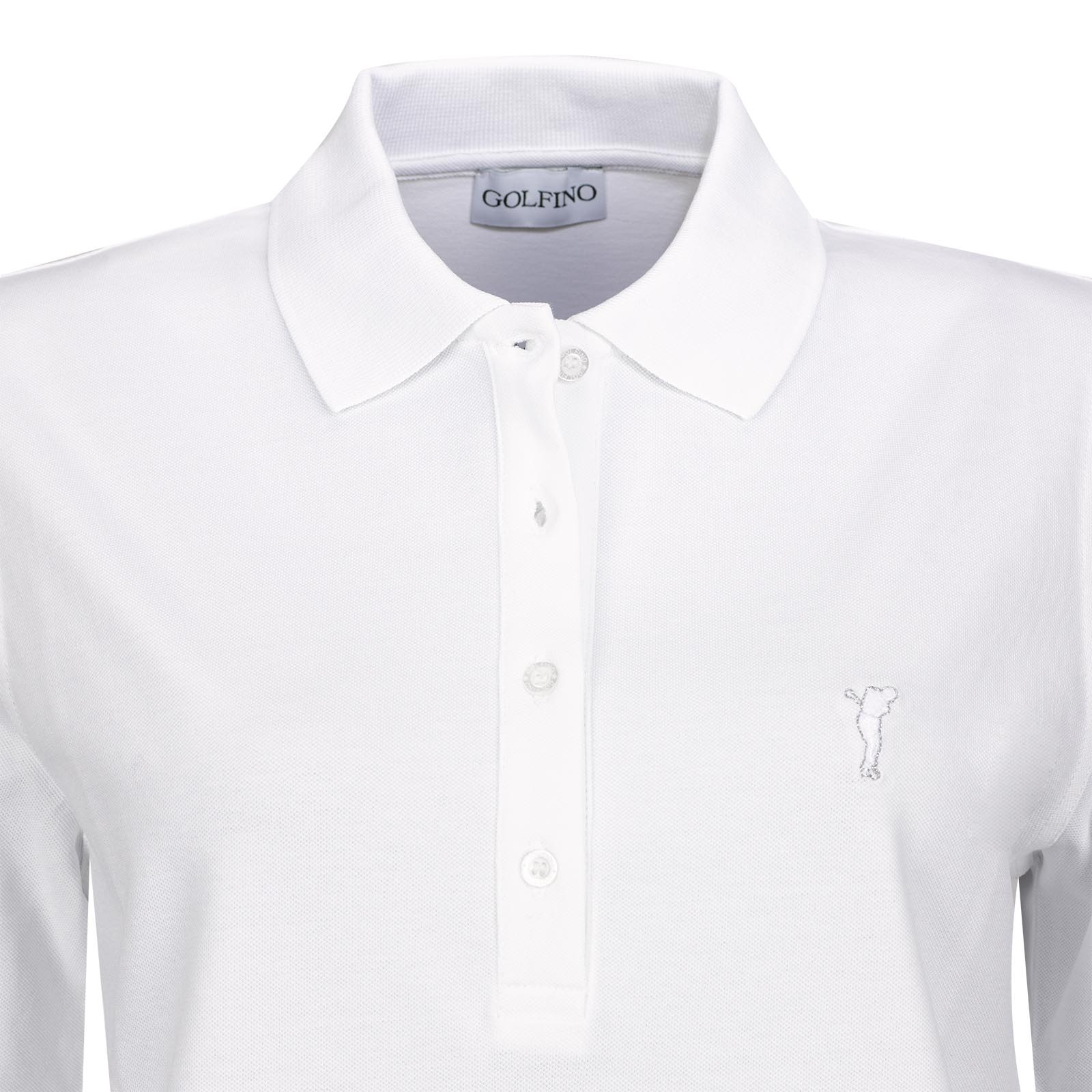 Basic Cotton Blend Damen Halbarm Golf-Polohemd mit Stretchfunktion