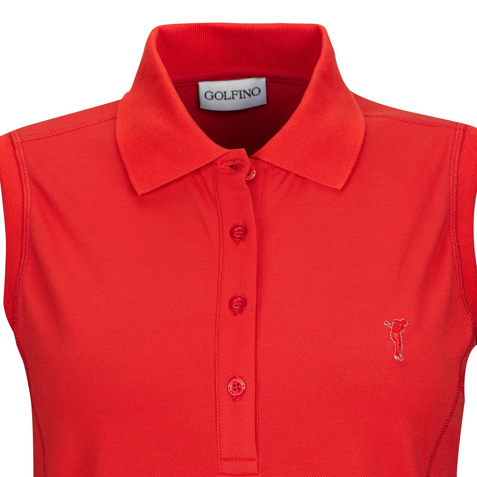 Ärmelloses Damen Golf Polohemd Sun Protection in Slim Fit