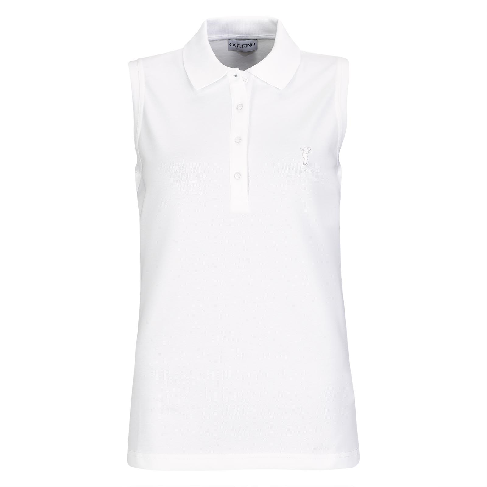 Ärmelloses Basic Cotton Blend Damen Golfpolo mit Stretchfunktion