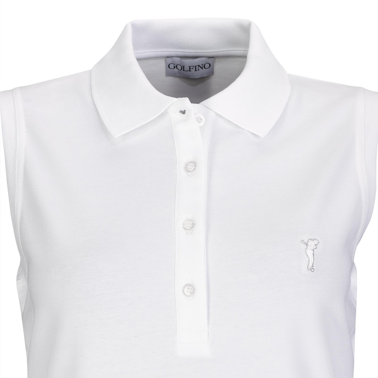 Ärmelloses Basic Cotton Blend Damen Golfpolo mit Stretchfunktion
