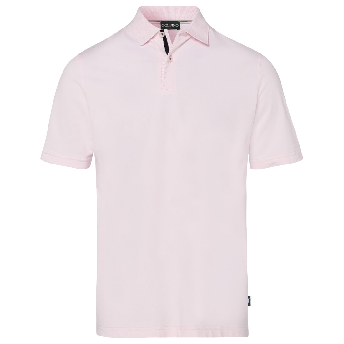 Short-sleeved functional polo for men