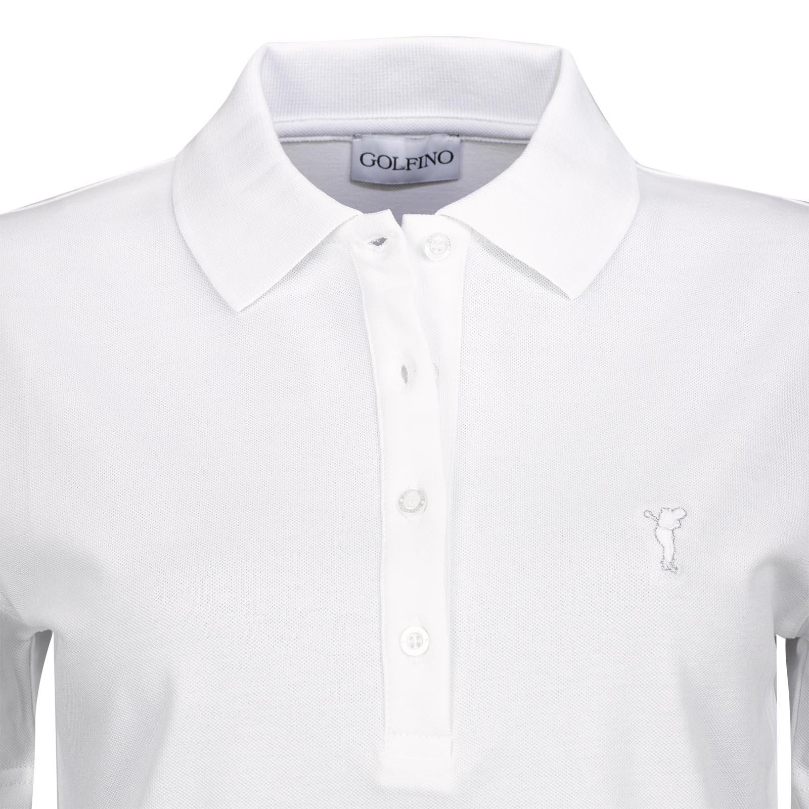 Basic Cotton Blend Damen Kurzarm Golf-Polohemd mit Stretchfunktion
