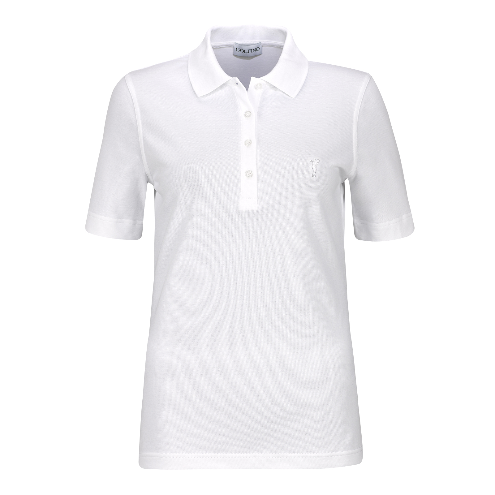 Basic Cotton Blend Damen Kurzarm Golf-Polohemd mit Stretchfunktion