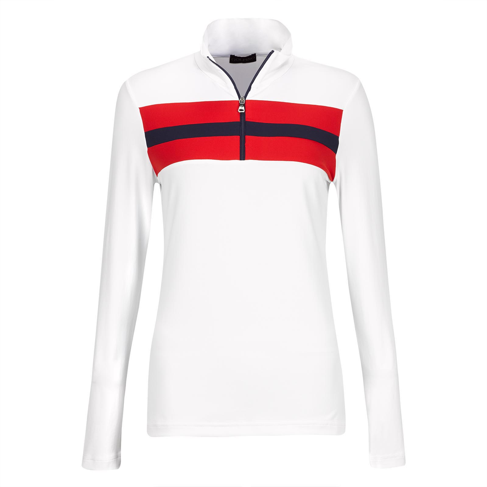 Damen Longsleeve Retro Sport Golf-Troyer Dry Comfort in Slim Fit