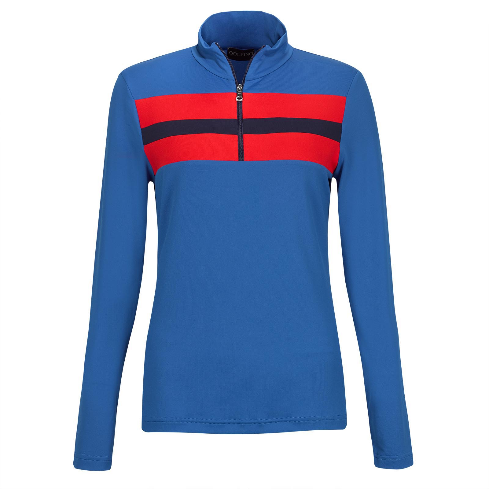 Ladies' longsleeve Retro sport golf troyer dry comfort in slim fit