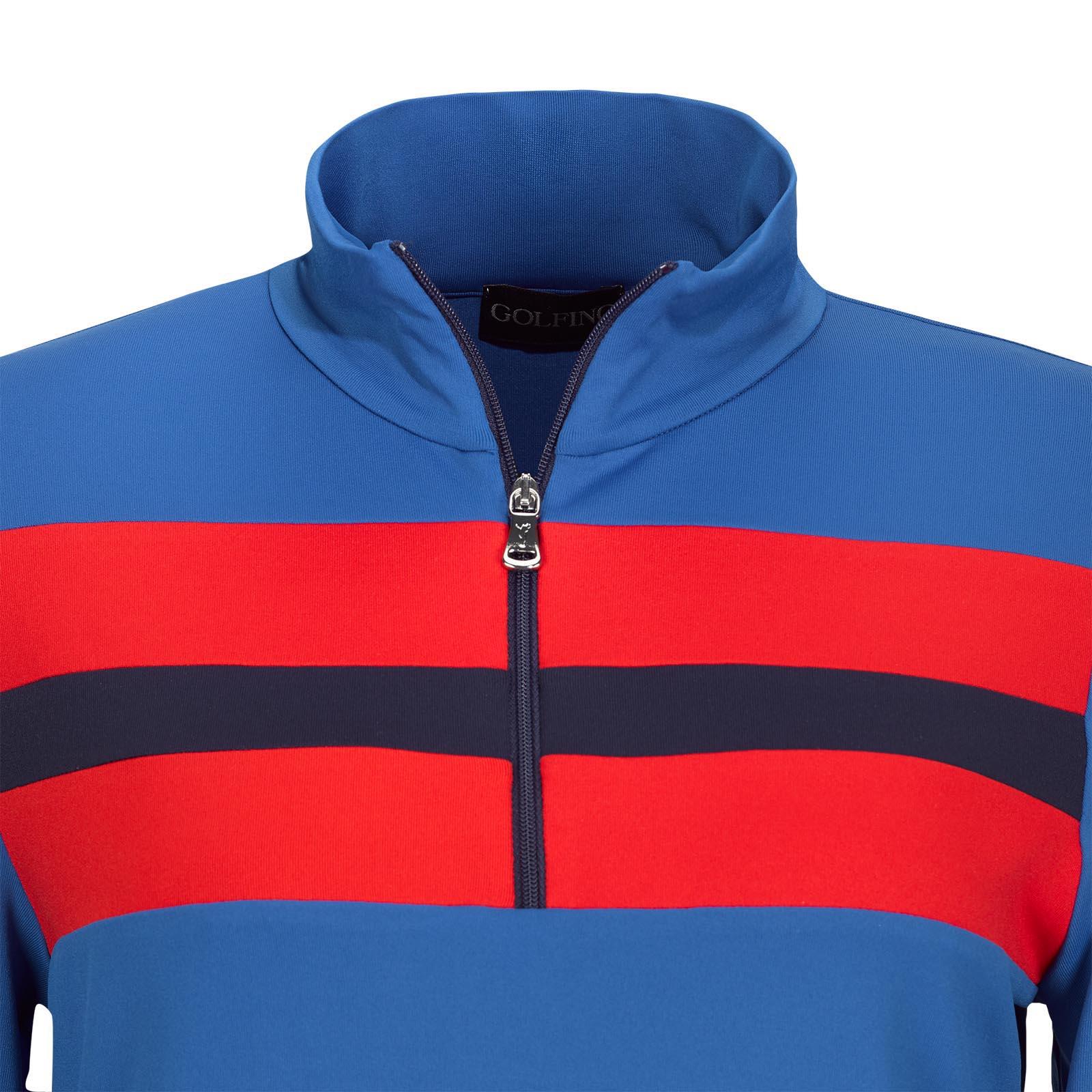 Damen Longsleeve Retro Sport Golf-Troyer Dry Comfort in Slim Fit