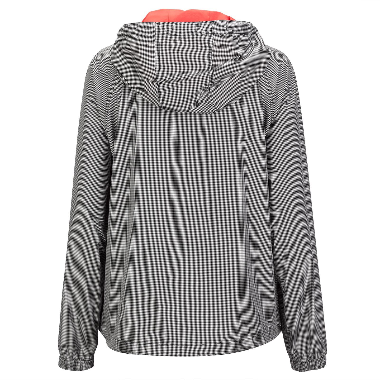 Wind Protection Damen Golfjacke mit Vichy Muster und Kapuze