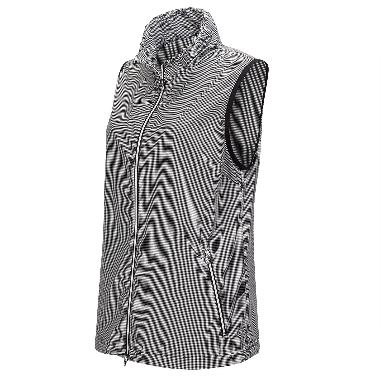 Wind Protection Damen Golfweste mit stylischem Vichy Muster