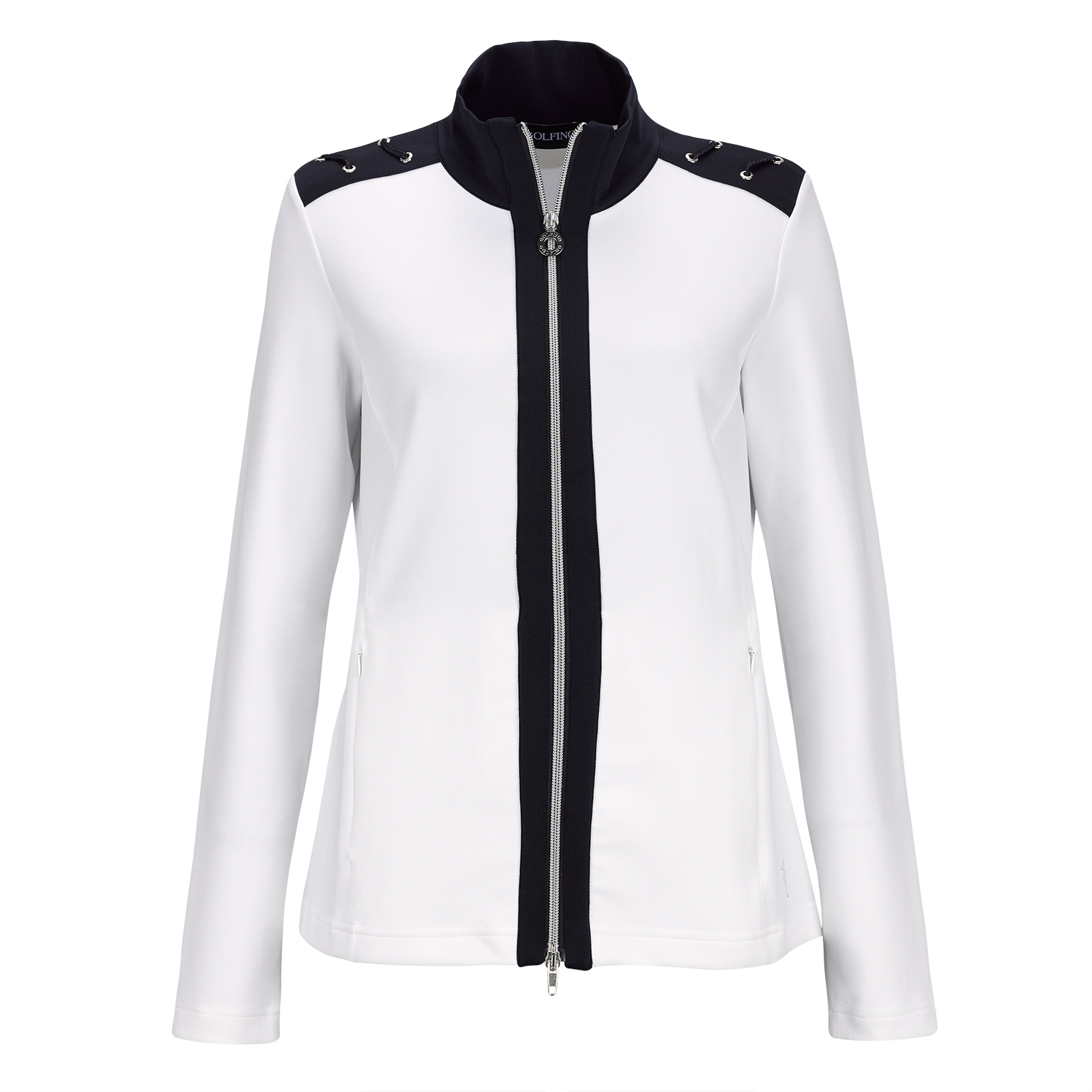 Ladies' functional golf jacket in micro stretch with Golfino eyelets