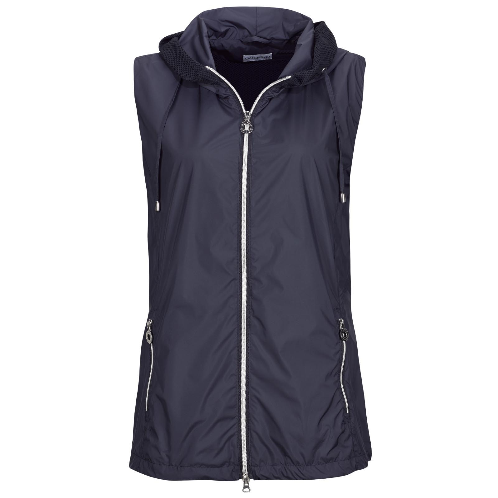 Ladies' Ultralight Wind Protection golf waistcoat with hood