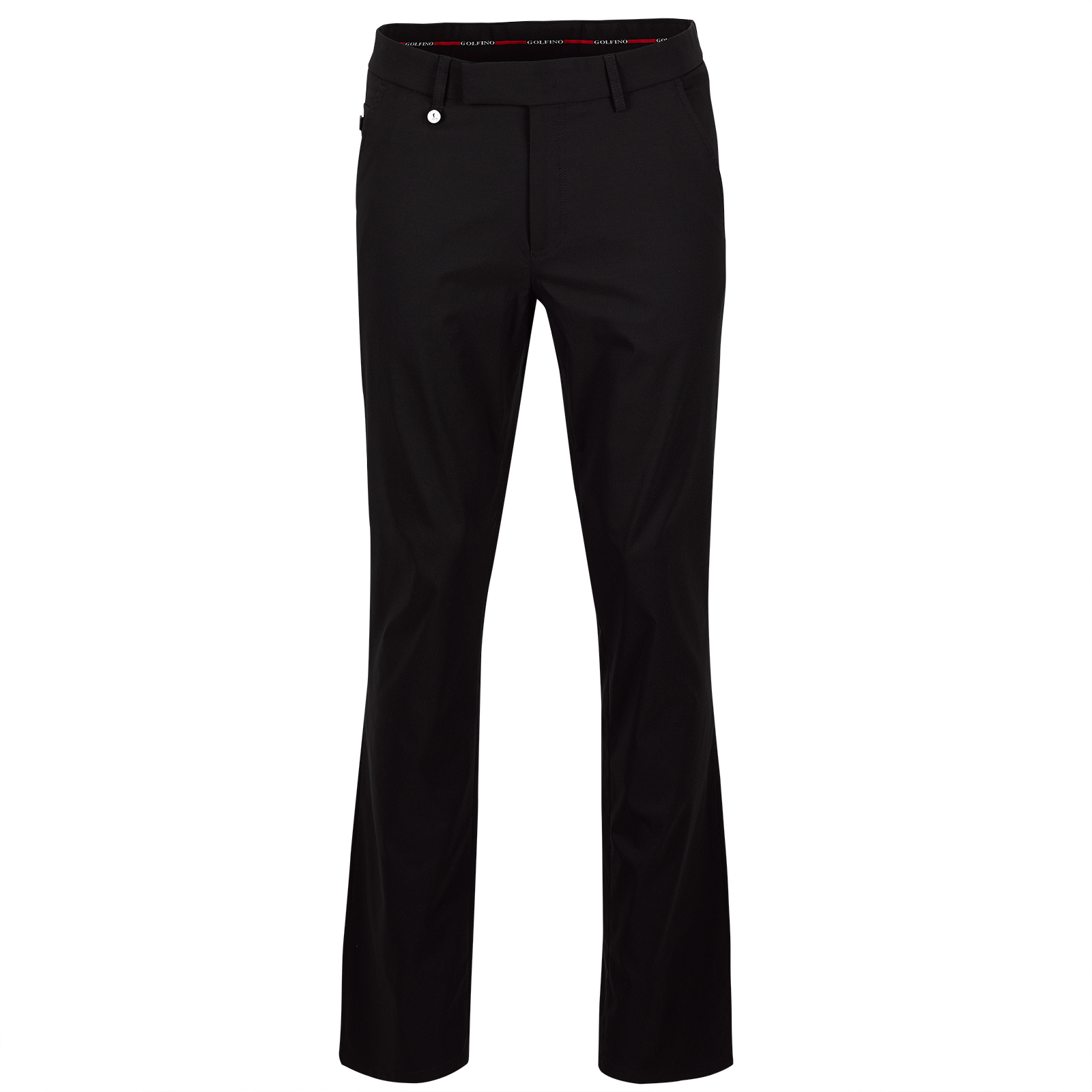 Men techno stretch golf trousers with UV protection and moisture management