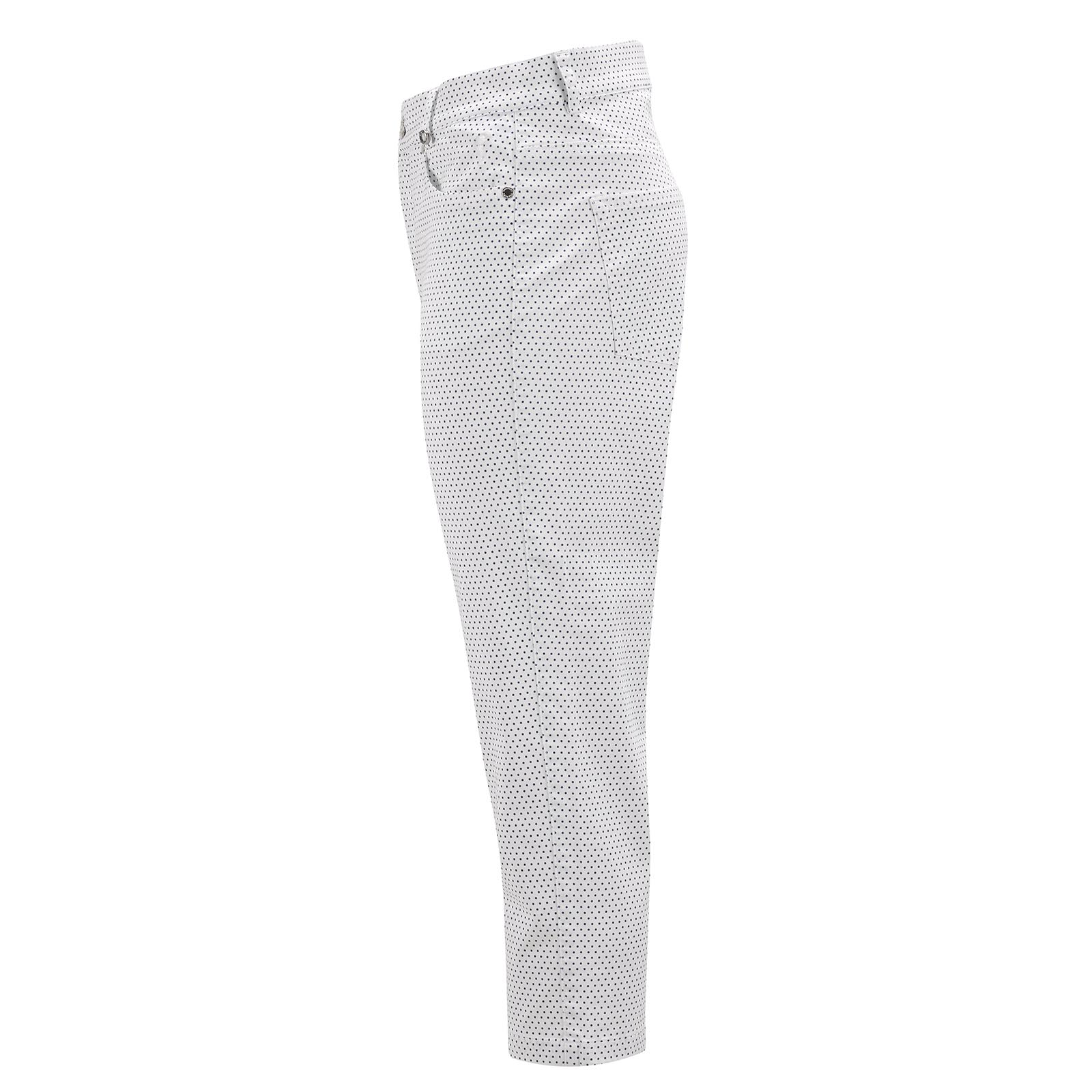 Cotton Blend Damen Golf-Caprihose mit modischem Dot-Muster