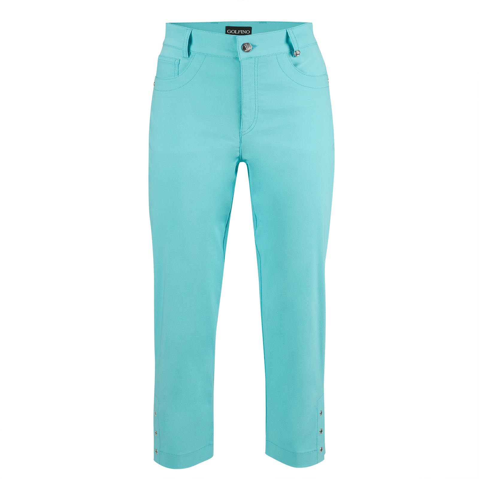 Cotton-Blend Damen Stretch-Caprihose mit UV Protection