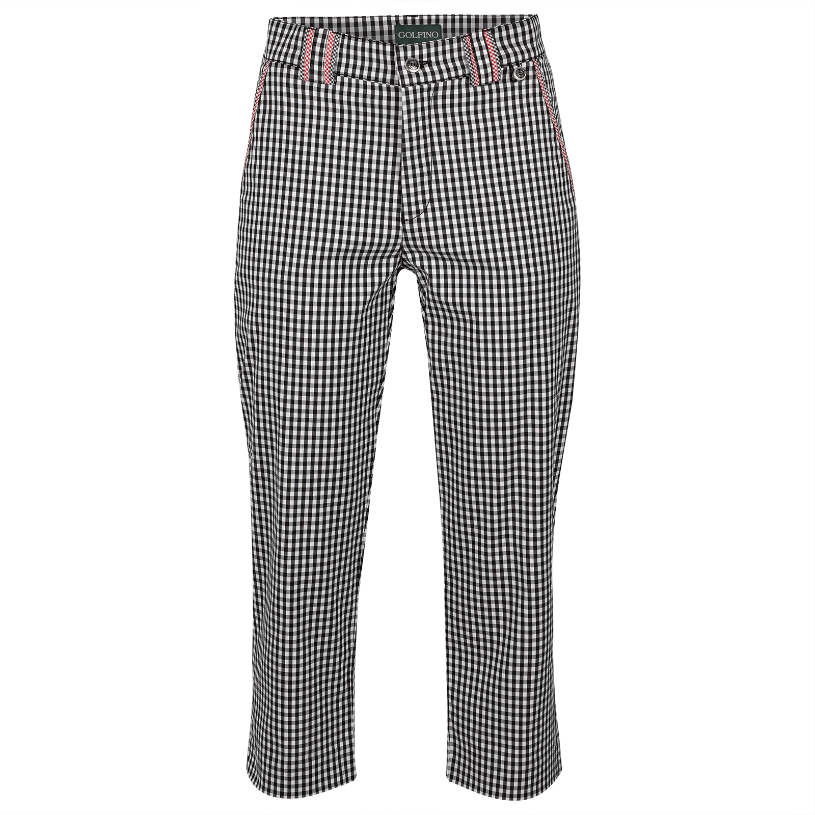 Ladies' Golf Capri with fashionable Vichy pattern and stretch function
