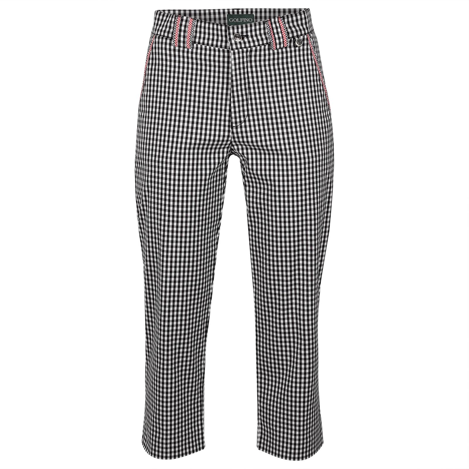 Pantalón capri de Golf con modernos cuadros Vichy y función elástica