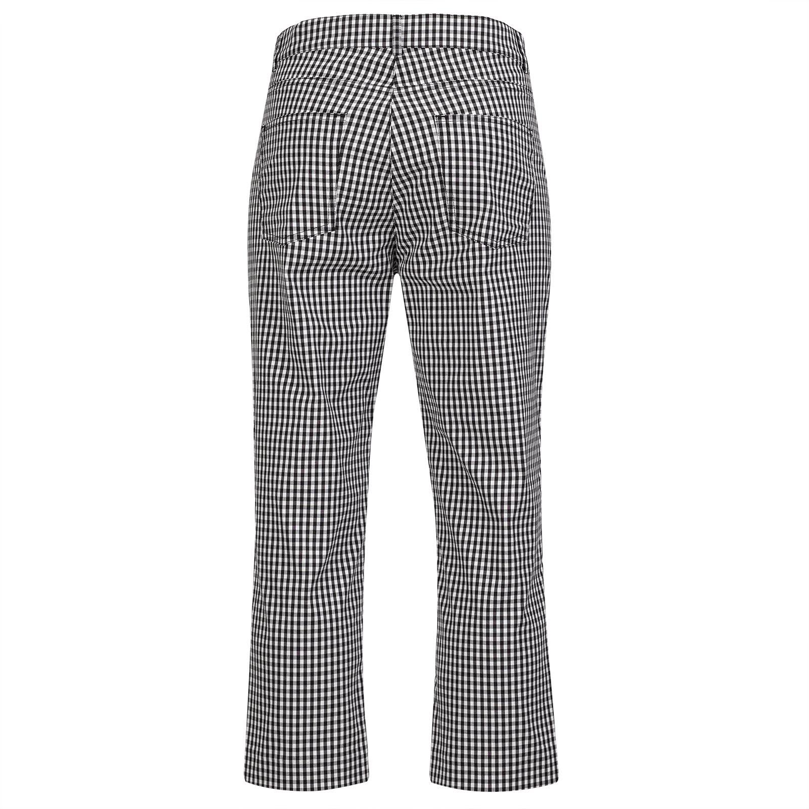 Damen Golf-Caprihose mit modischem Vichy Muster und Stretchfunktion