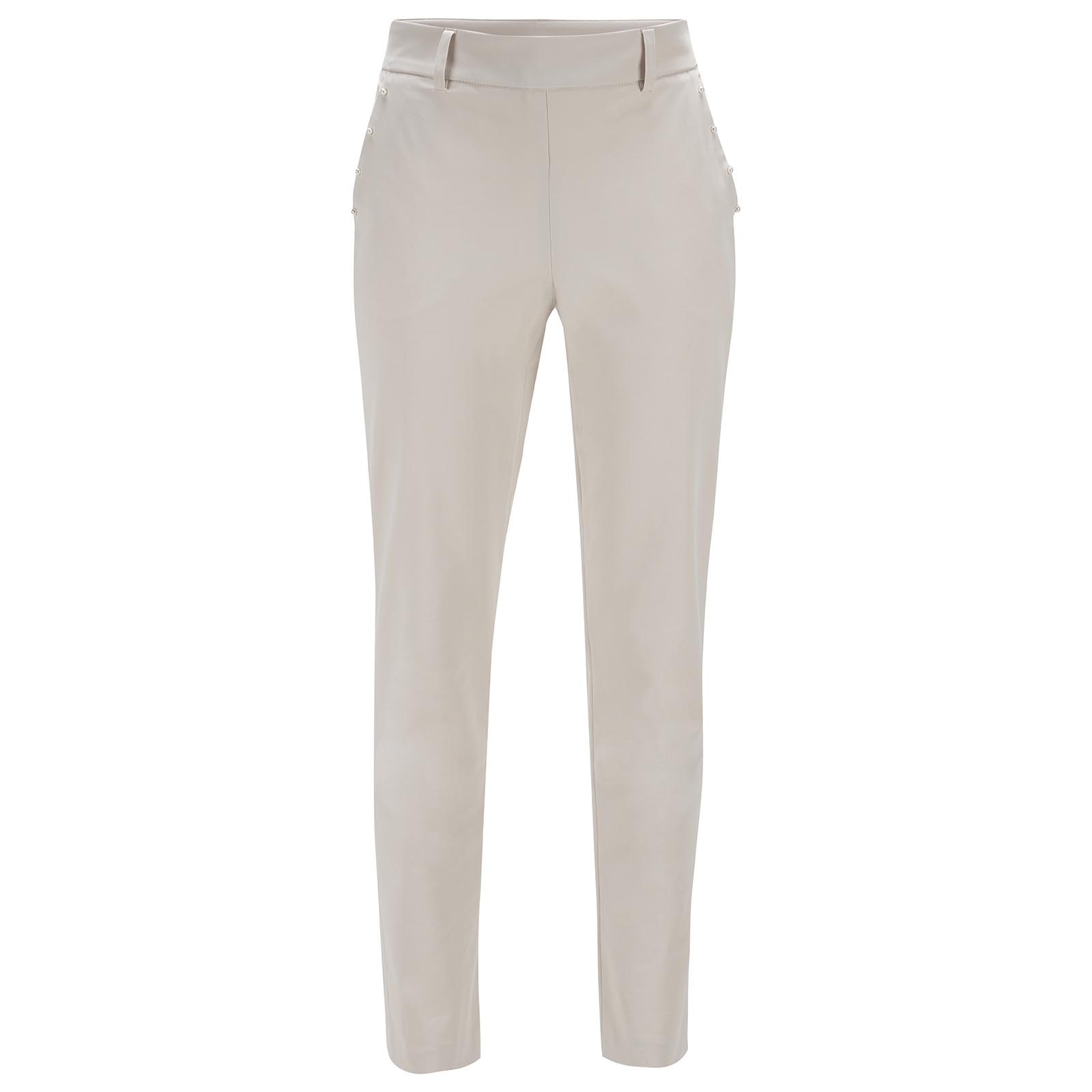 Ladies' 7/8 golf trousers made of lightweight stretch material for a slim fit