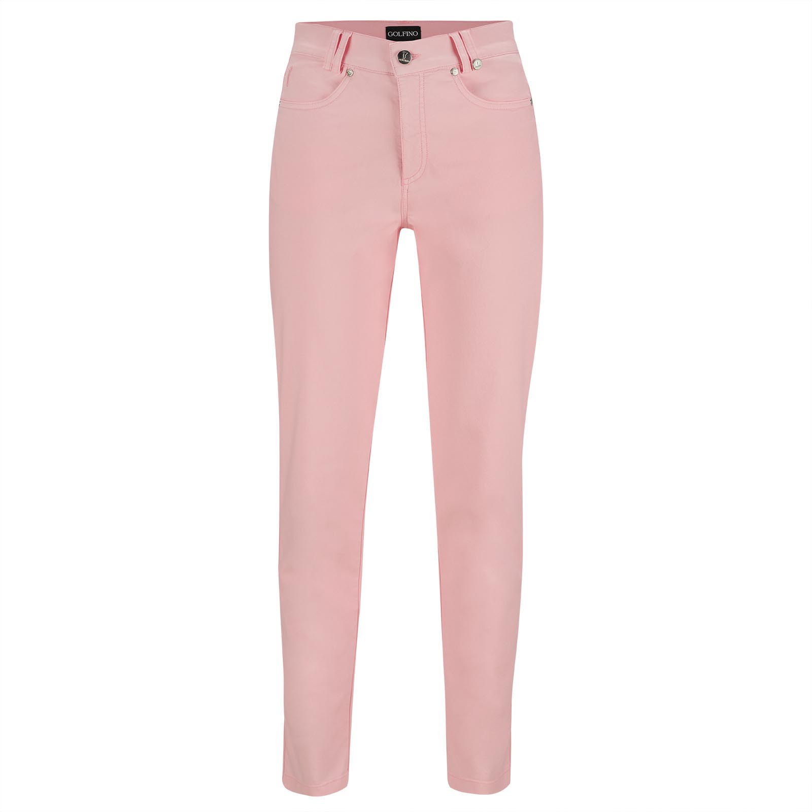 Cotton Blend Ladies' 7/8 golf trousers with excellent stretch properties