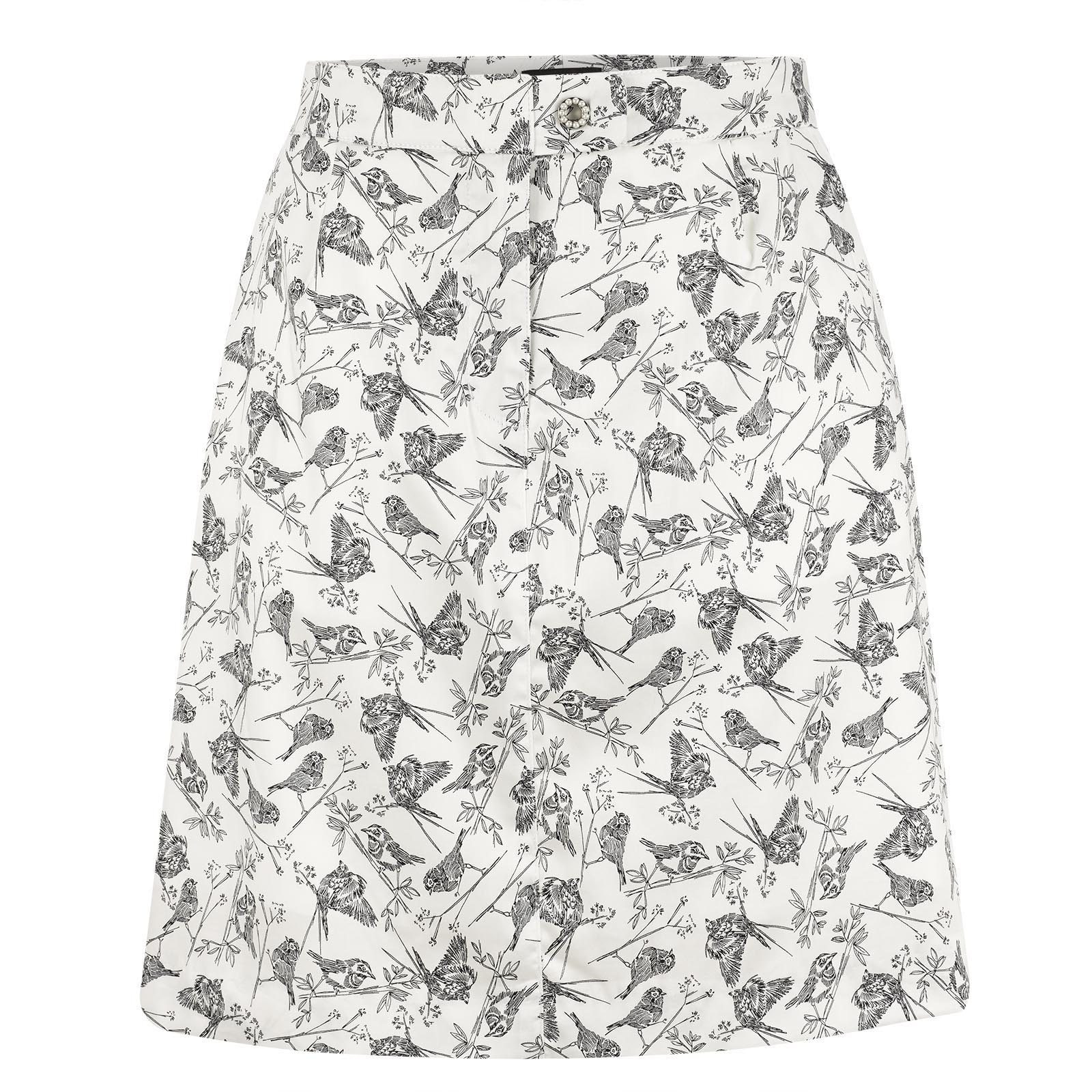 Stretch cotton Ladies' golf skort with graphic print