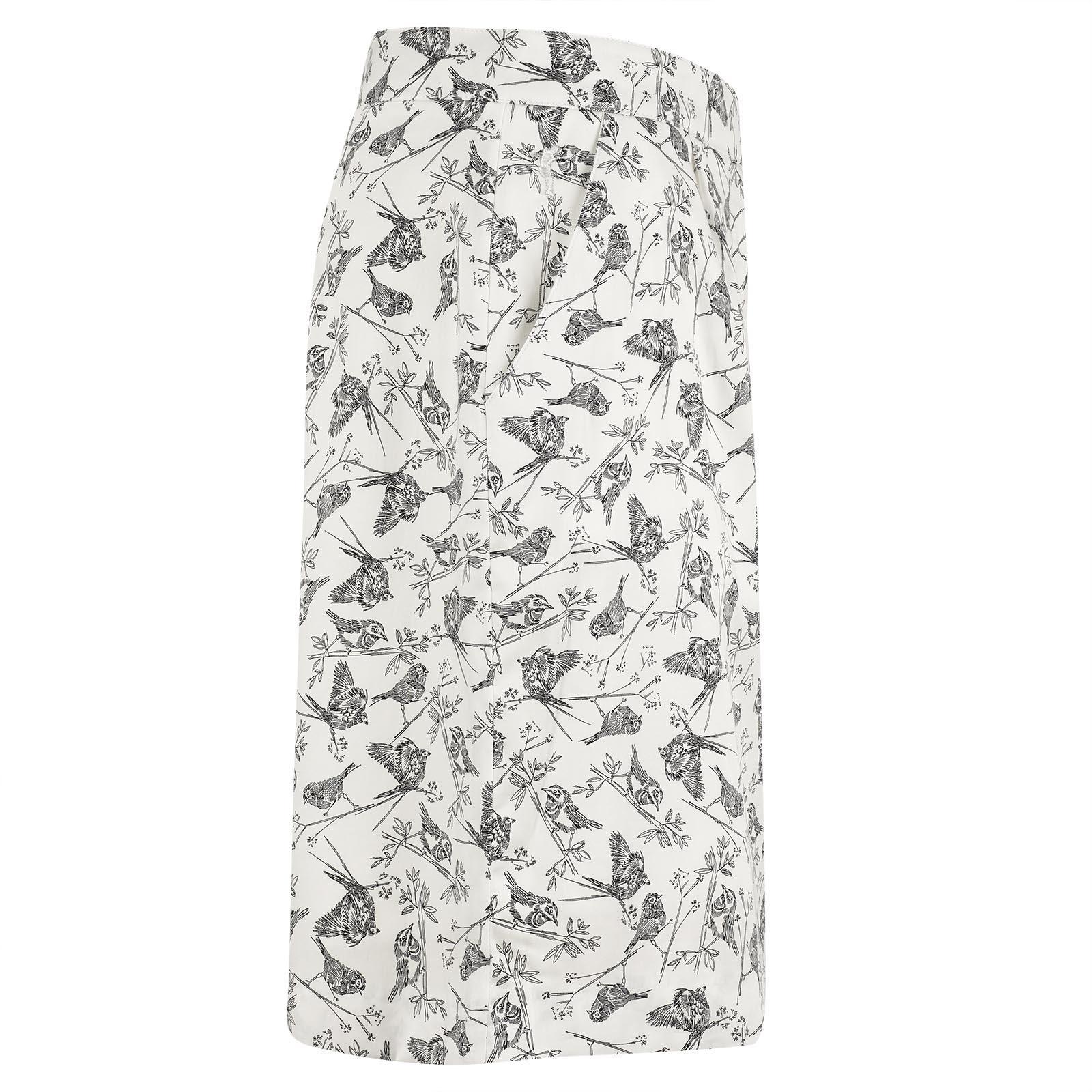 Langer Baumwoll-Stretch Damen Golfskort mit Grafikdruck