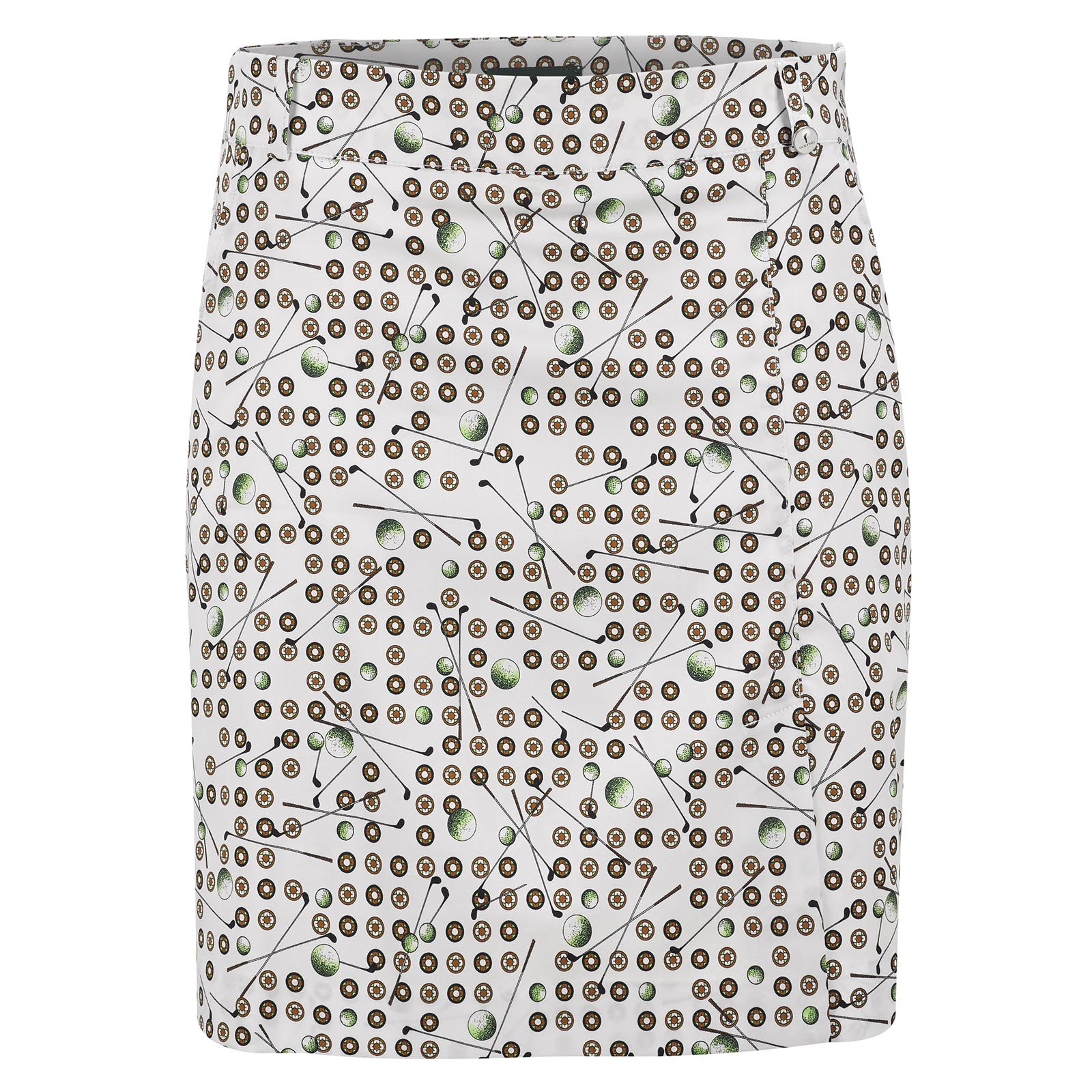 Ladies' skort with floral print
