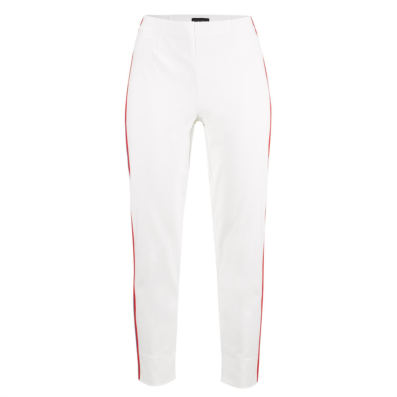 Damen 7/8-Golfhose aus leichtem Baumwoll-Mix für eine schlanke Passform