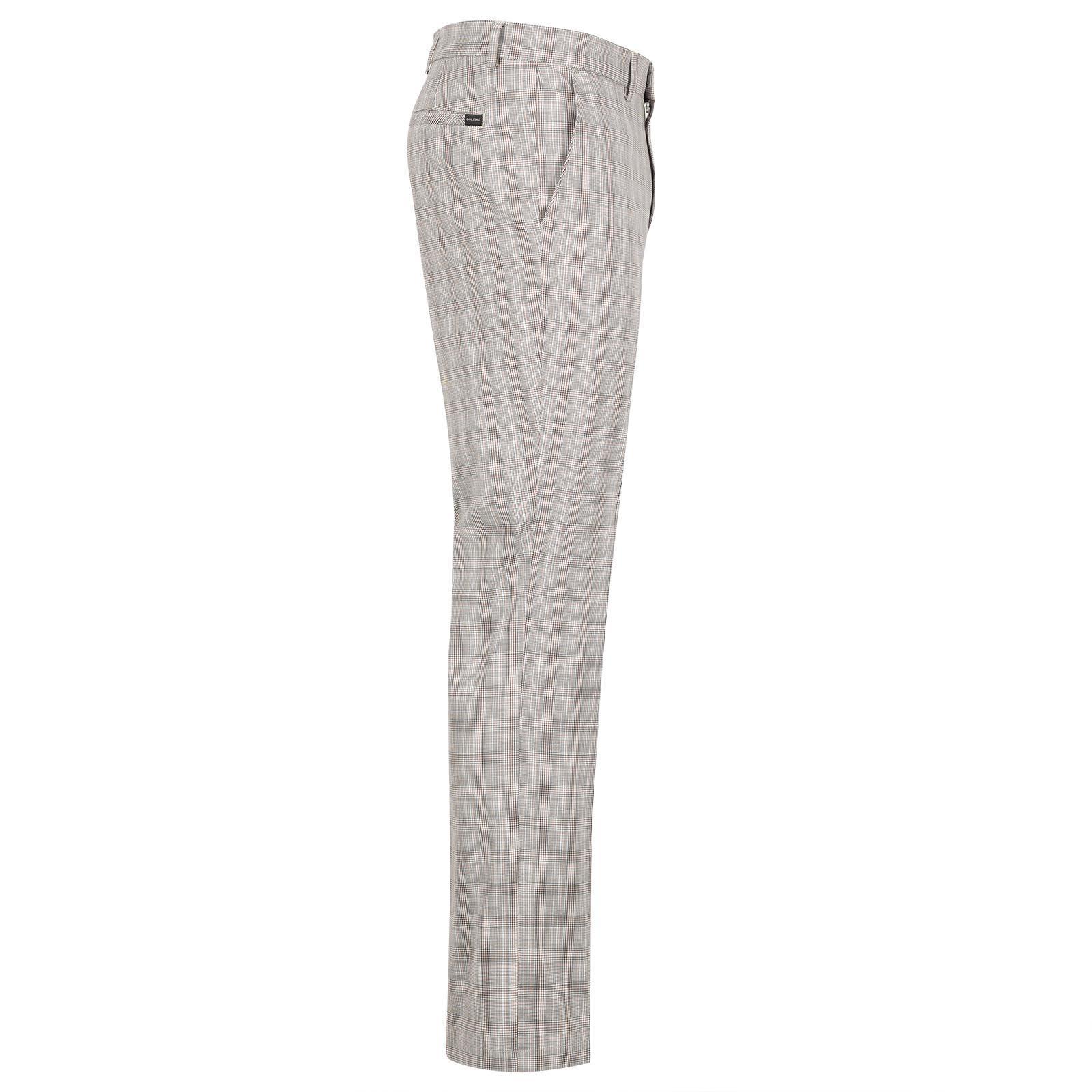Herren Baumwoll-Mix Karo Stretch-Golfhose für einen klassischen Look