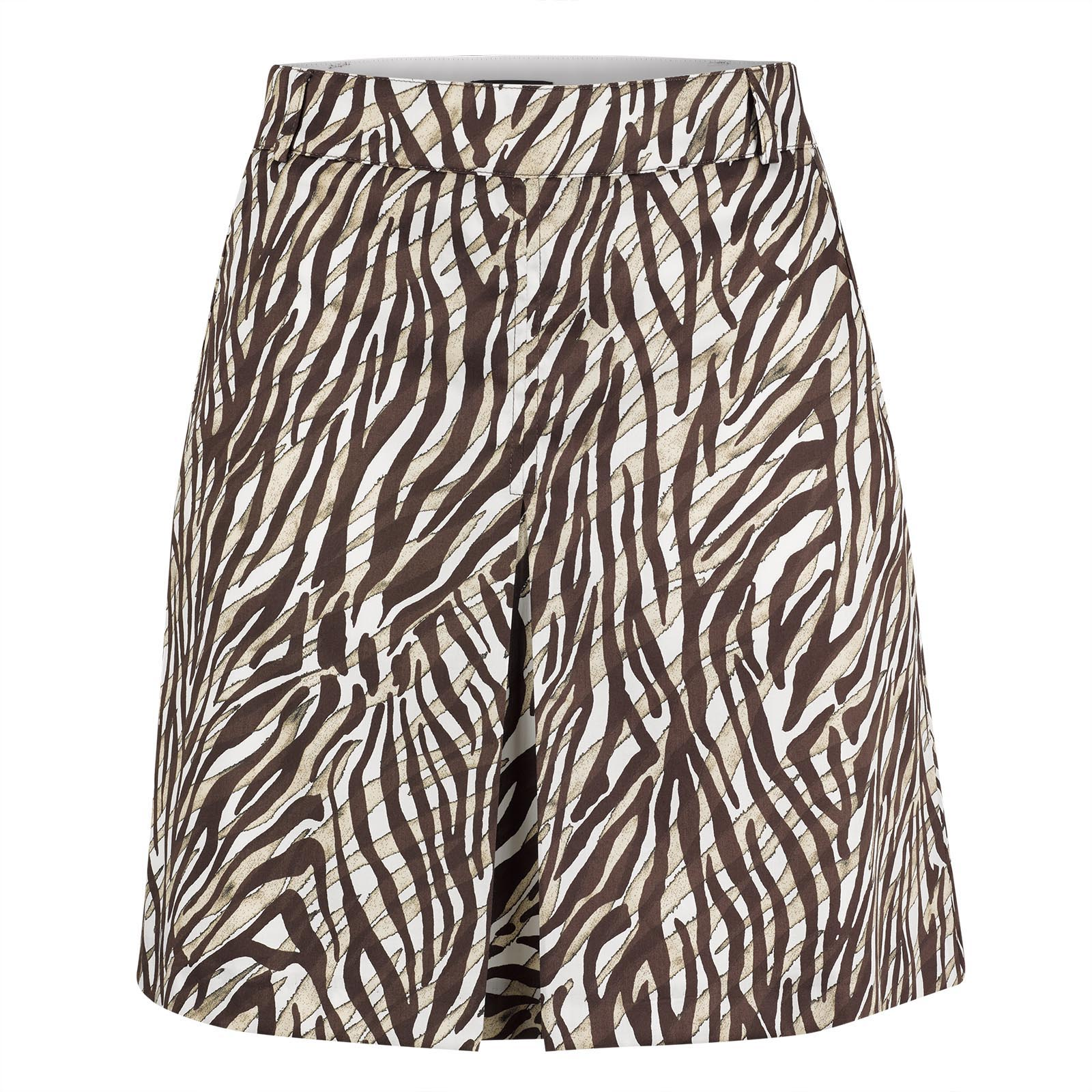 African Safari print ladies' golf skort with integrated shorts