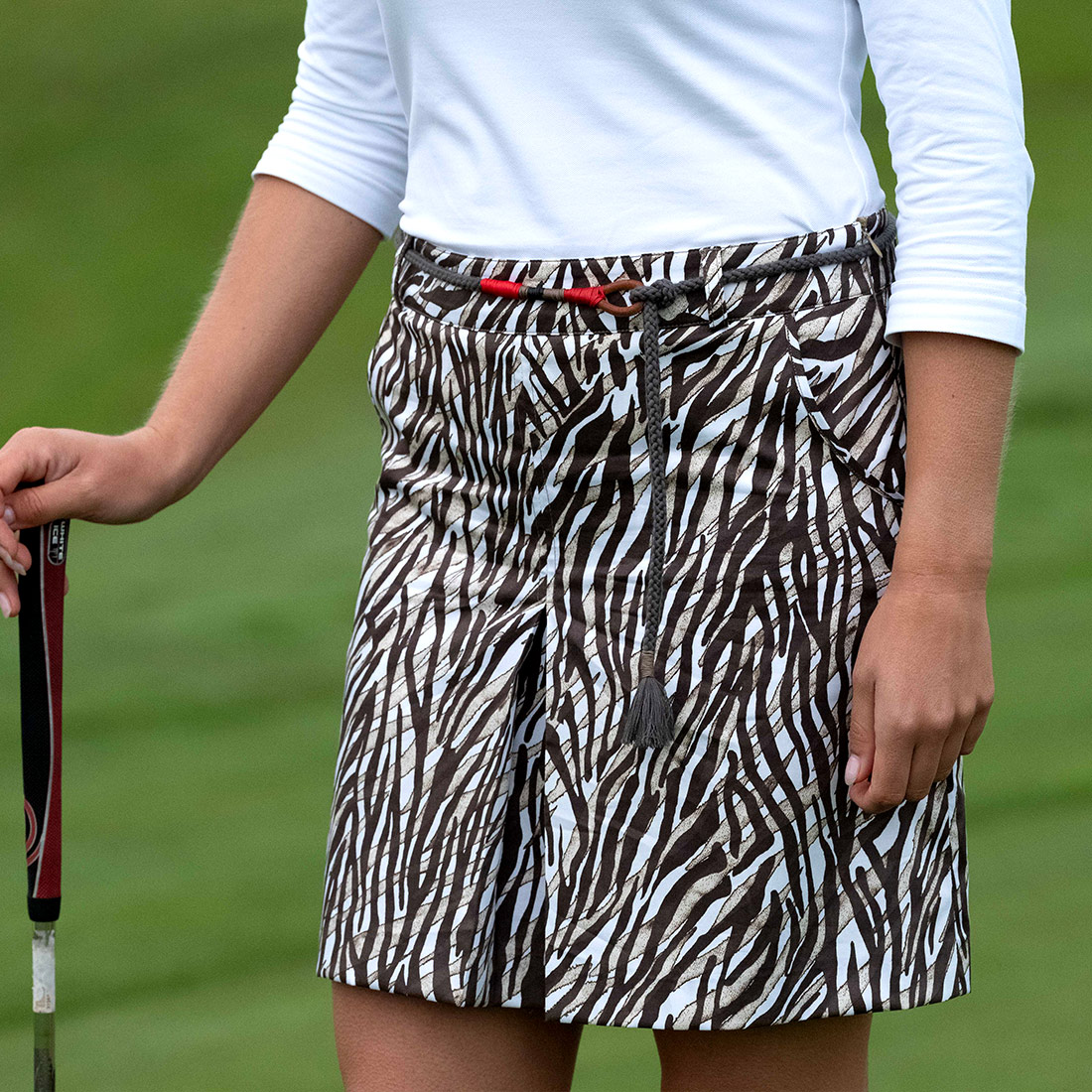 Damen Golfgürtel African Safari mit exklusivem Lederbesatz