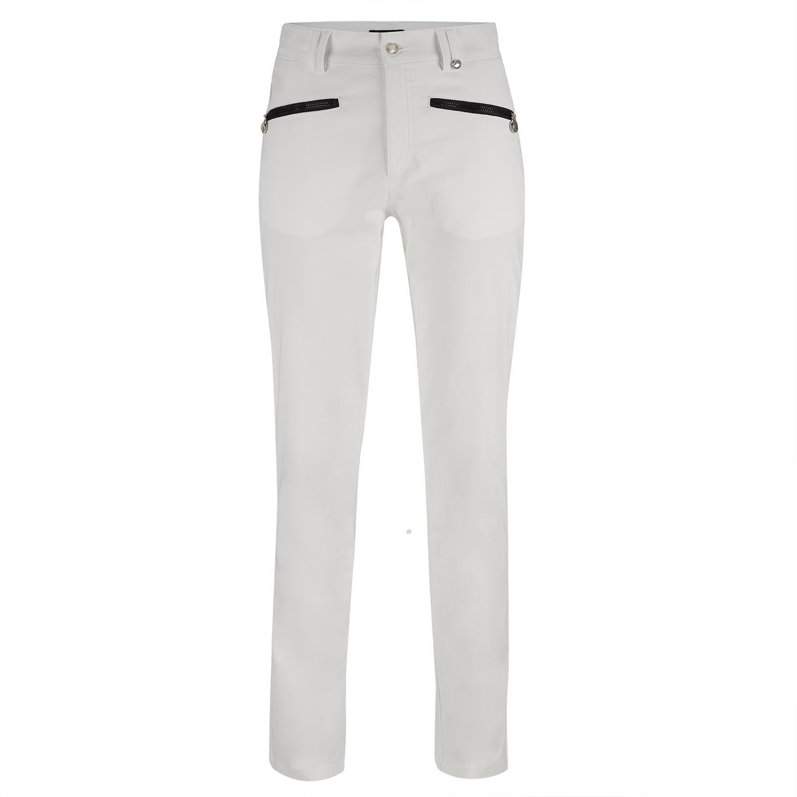 Cotton blend 7/8 ladies' golf trousers with UV protection