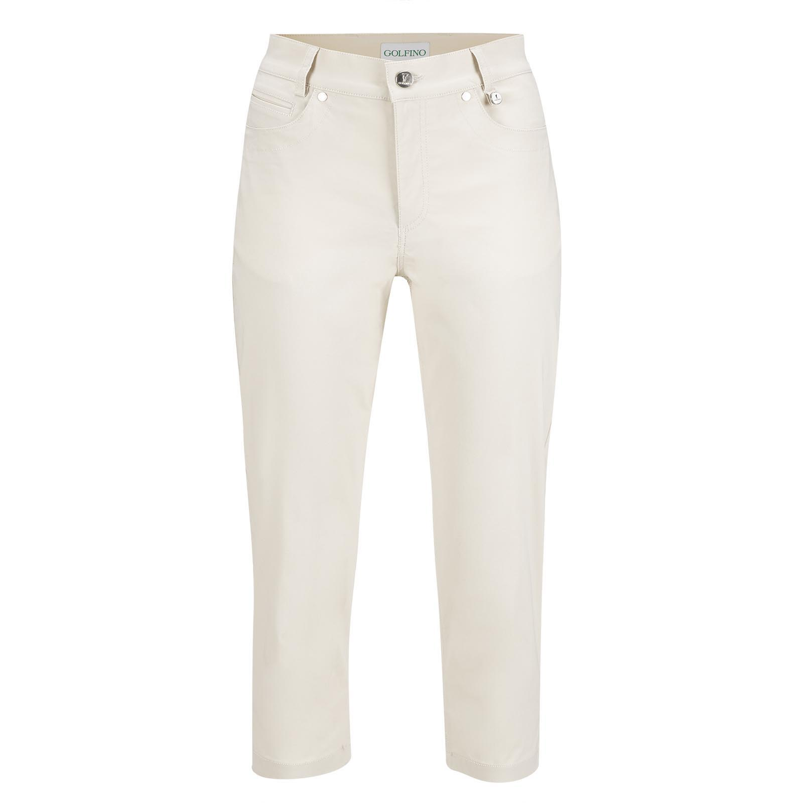 Golf Capri pants in cotton stretch with sun protection in slim fit
