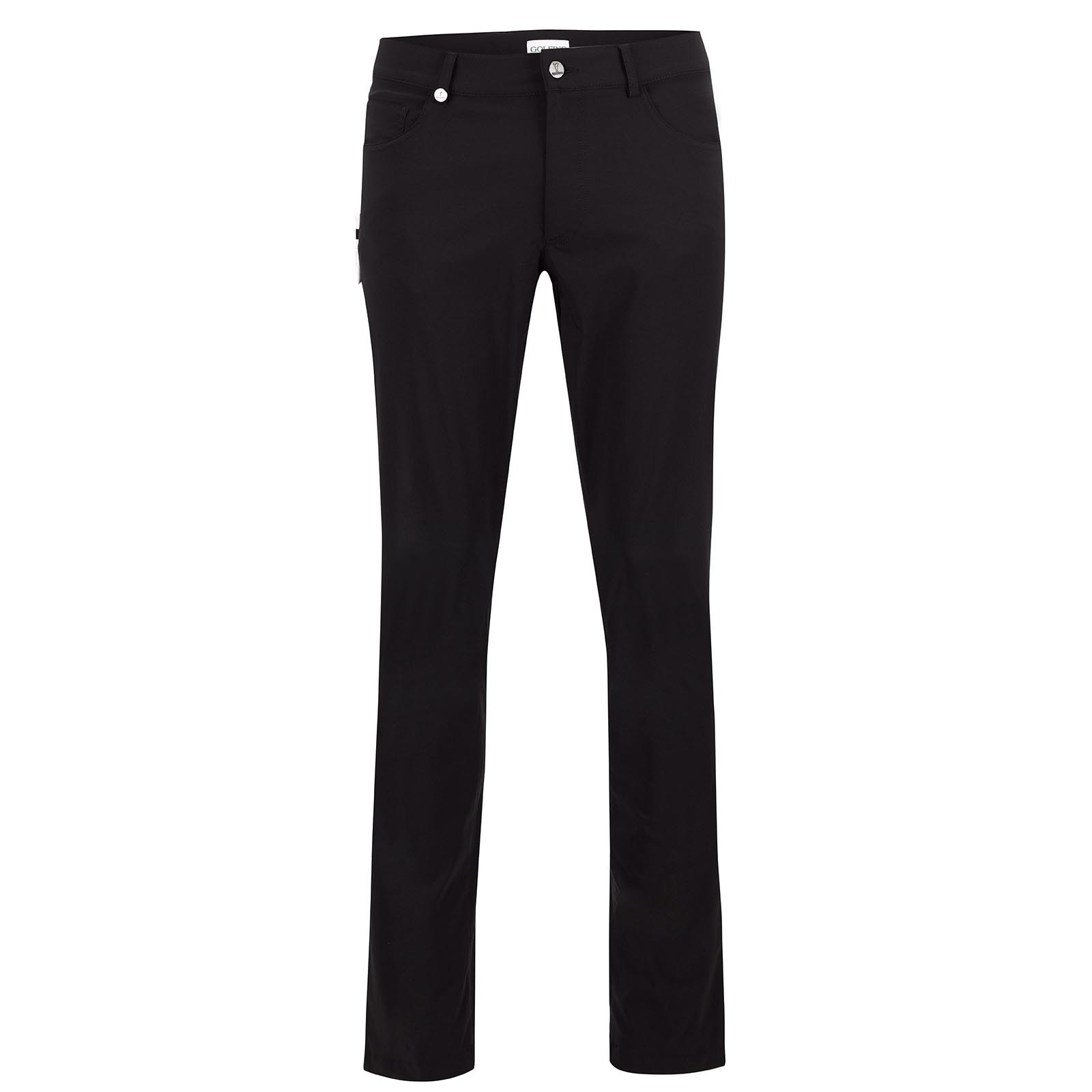 Men's performance golf trousers with UV protection in five-pocket style