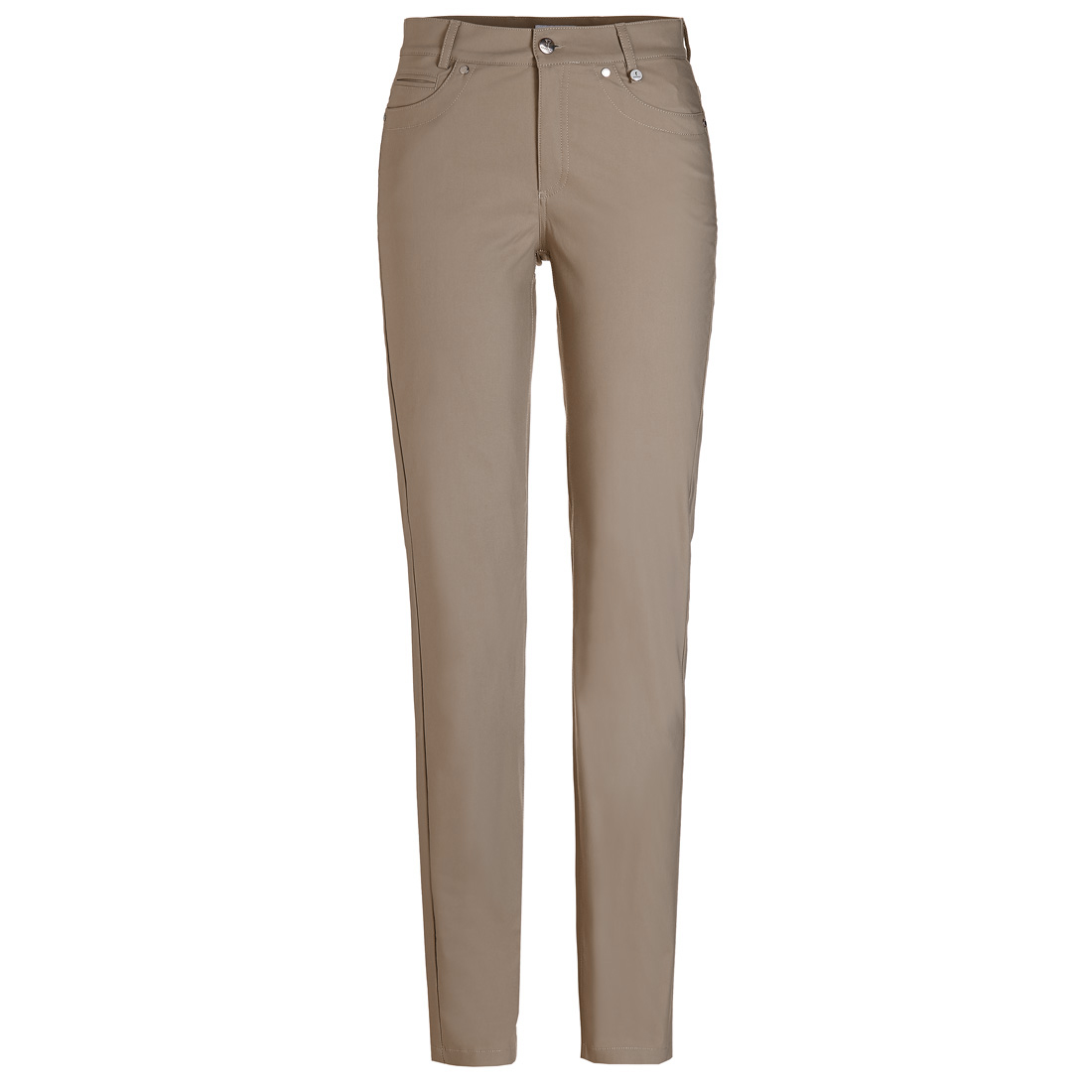 Ladies' golf trousers in fine cotton blend in slim fit