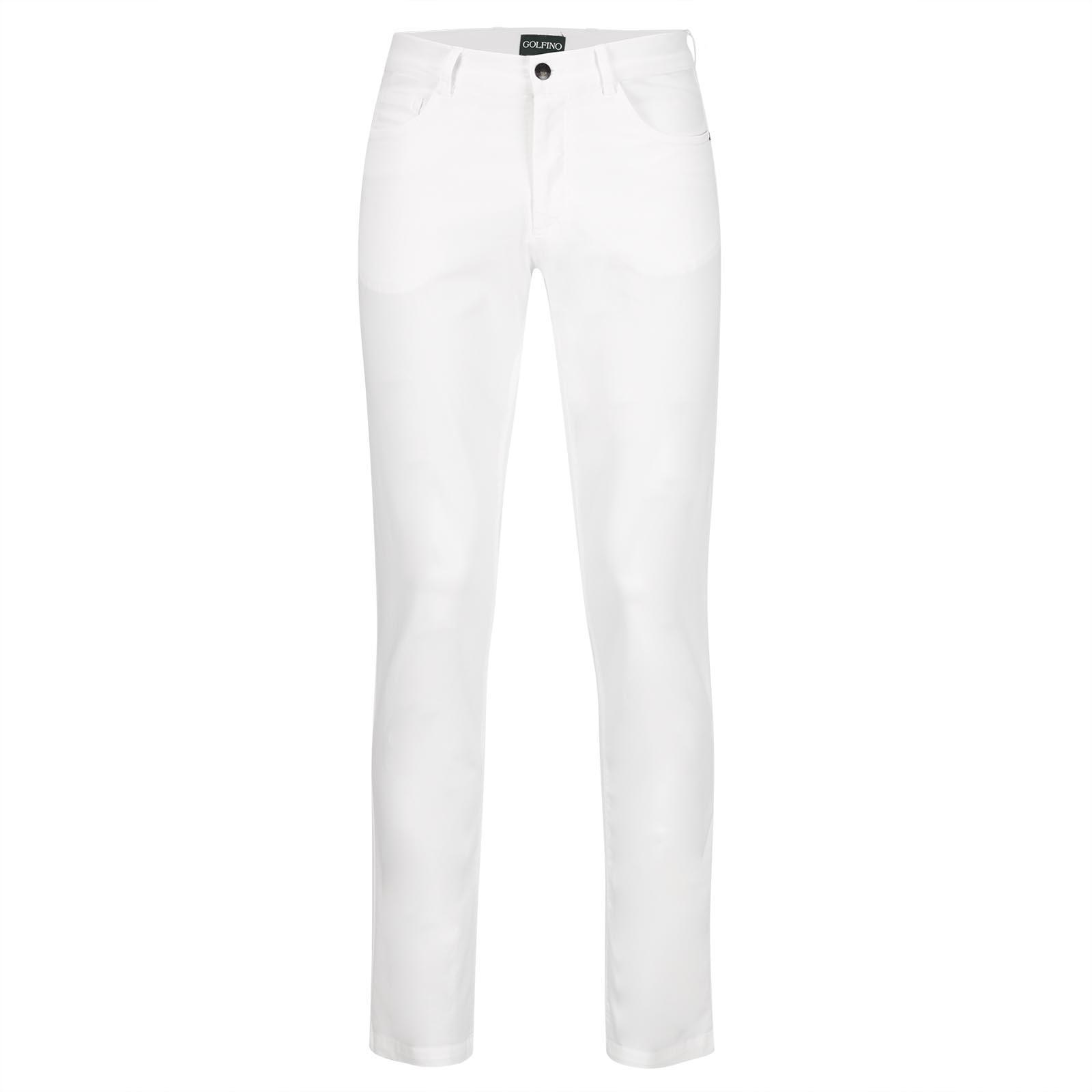Cotton blend men's golf stretch trousers in modern fit
