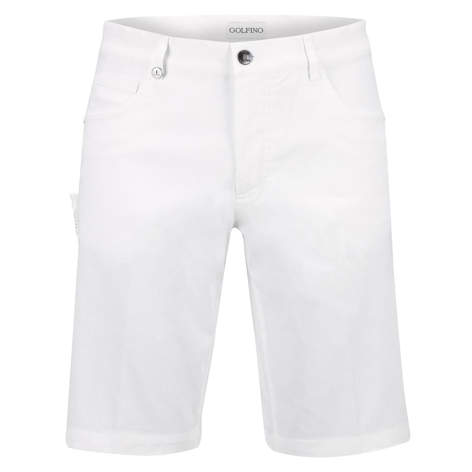 Herren Slim Fit Golf Funktions-Bermuda