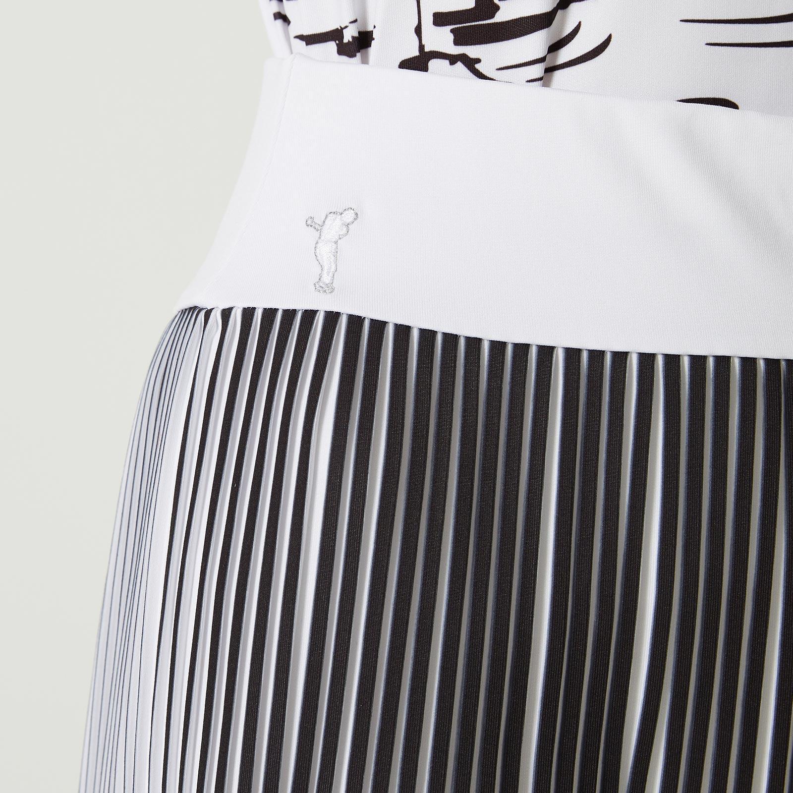 Damen Jersey Skort mit bedruckten Plisseefalten