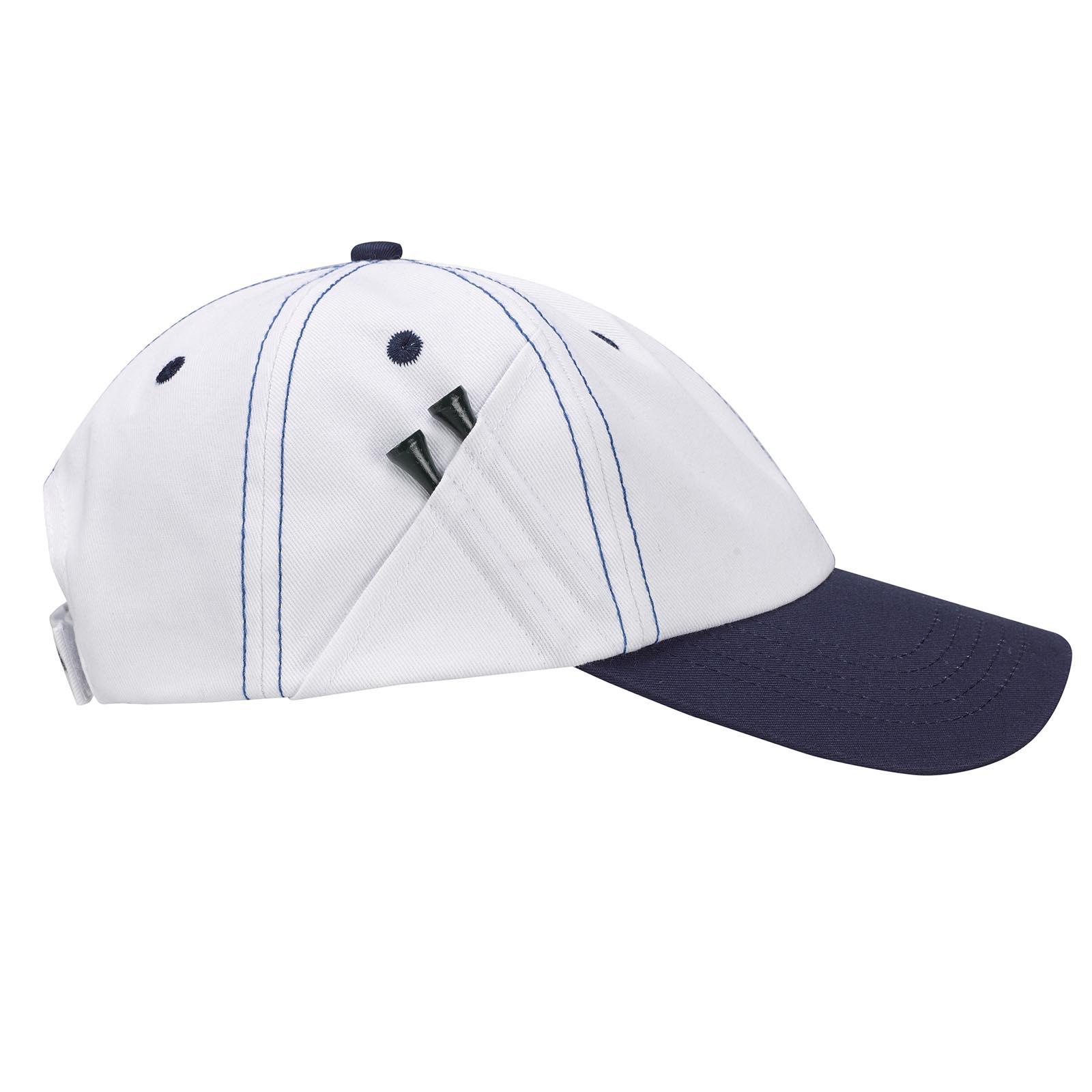 Premium Baumwoll Herren Golfcap mit Tee Holder und Golfino Tees