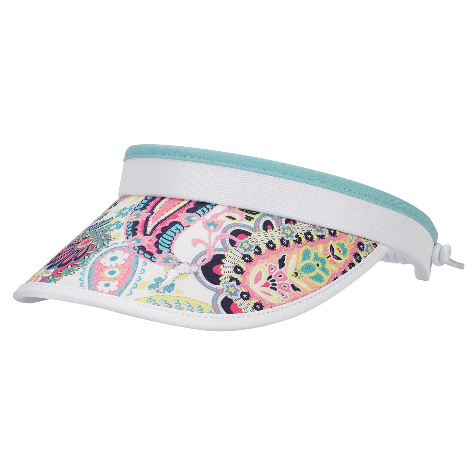 Ladies' paisley golf cable printed visor