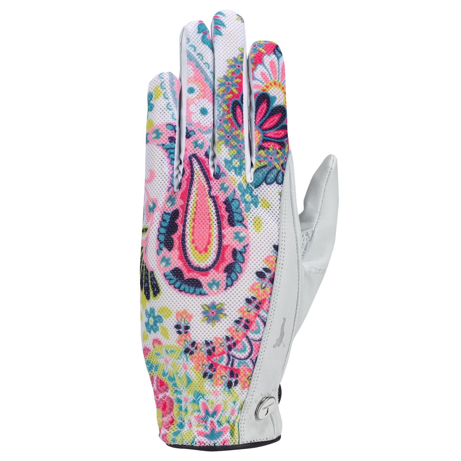 Damen Golfhandschuh (links) aus Leder mit textilem Einsatz