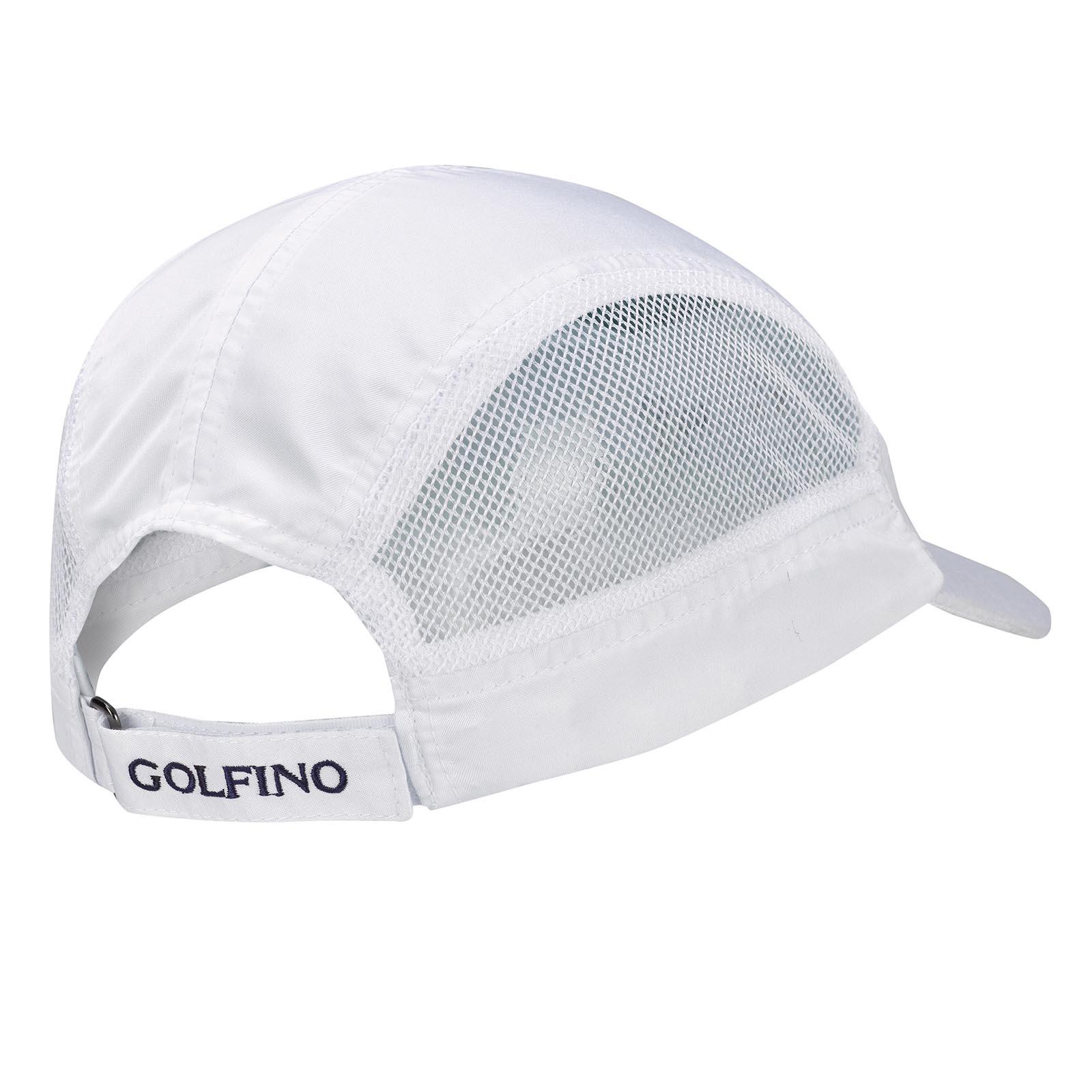 Atmungsaktives Herren Microfaser Golfcap mit seitlichen Mesh-Elementen